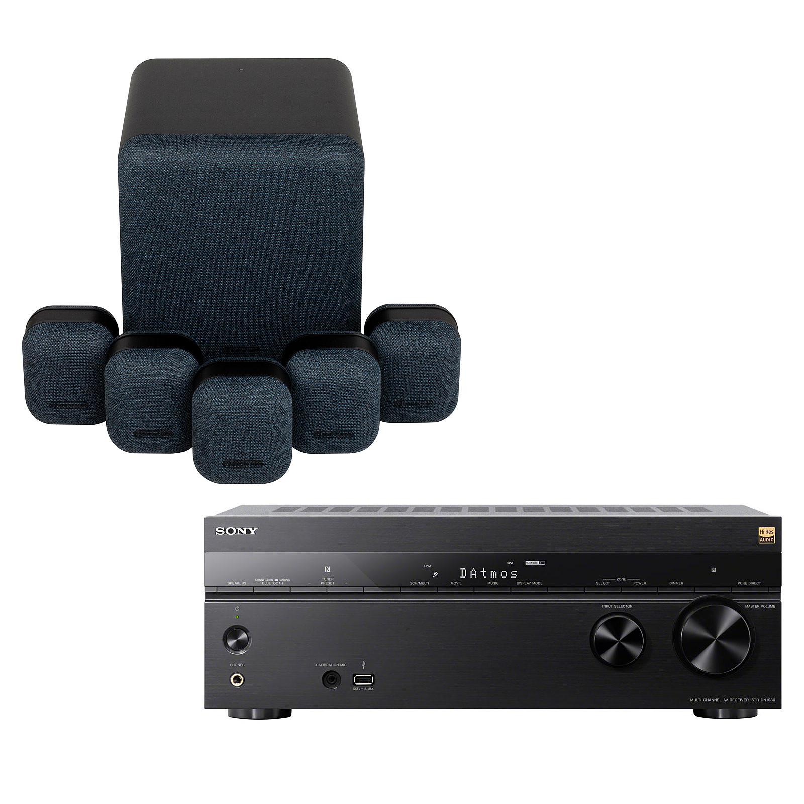 Sony STR-DN1080 + Monitor Audio MASS 5.1 Noir