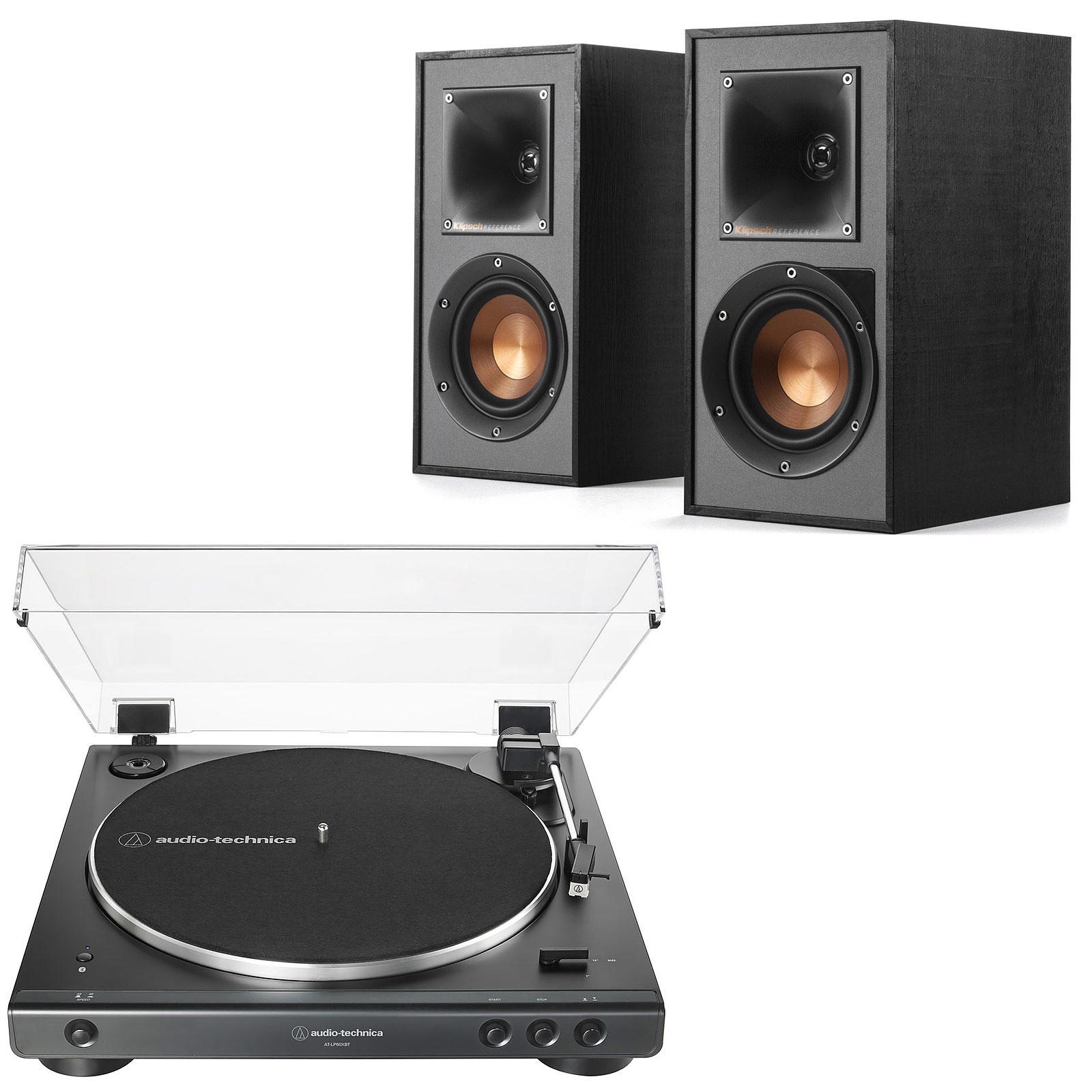 Audio-Technica AT-LP60XBT Noir + Klipsch R-41PM