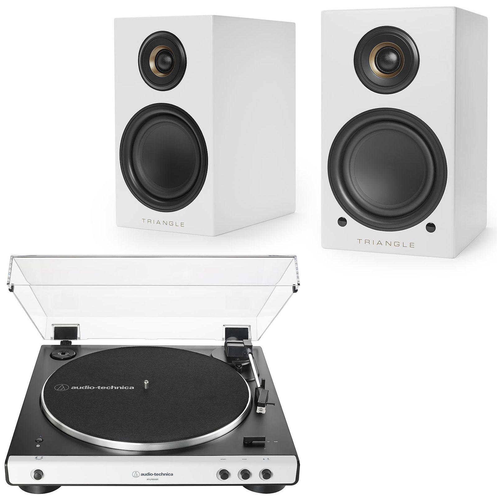 Audio-Technica AT-LP60XBT Blanc + Triangle Elara LN01A Blanc mat