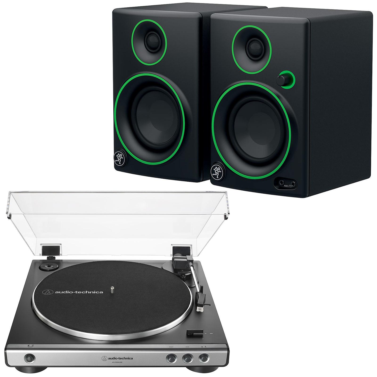 Audio-Technica AT-LP60XUSB Gris + Mackie CR3