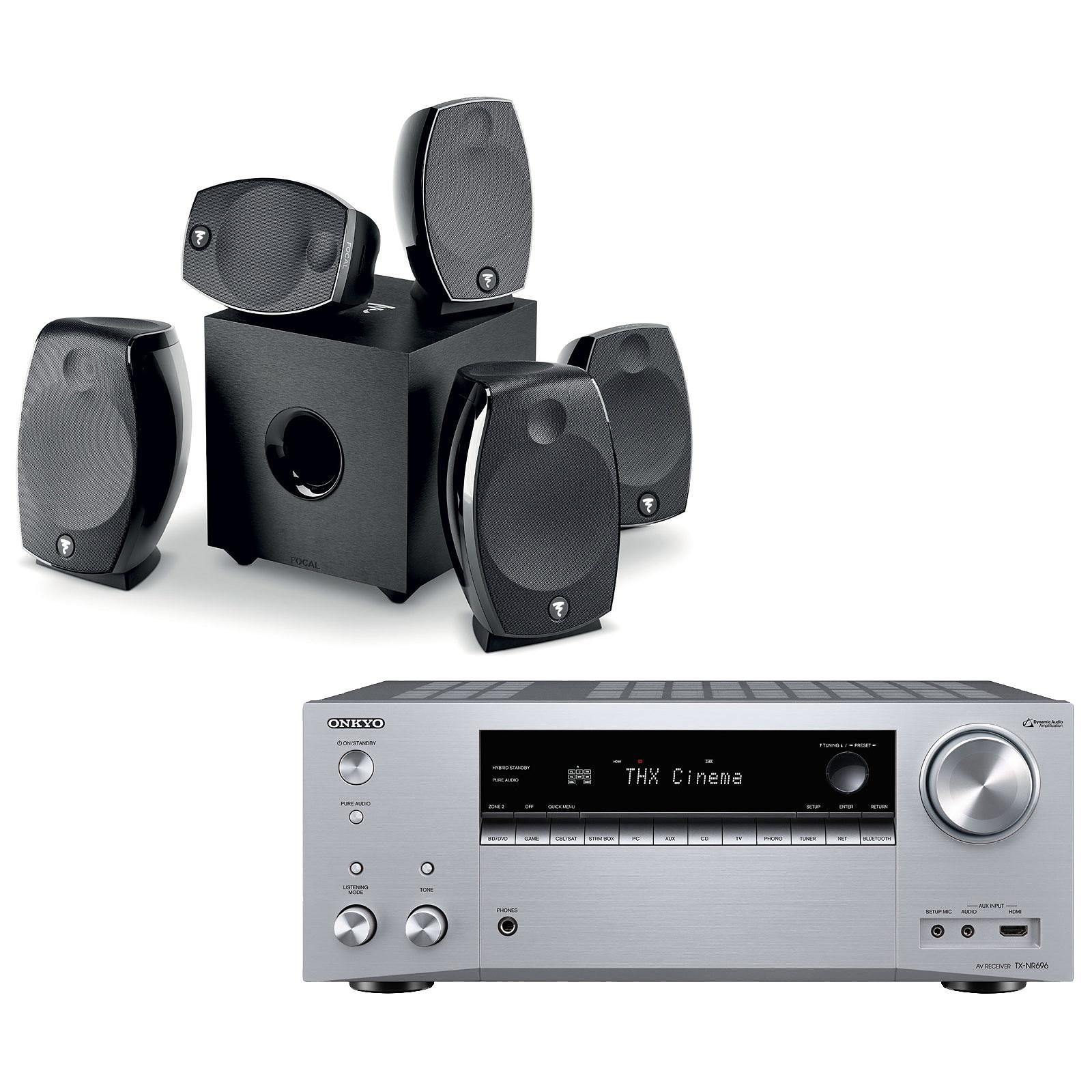 Onkyo TX-NR696 Argent + Focal Sib Evo 5.1.2 Dolby Atmos