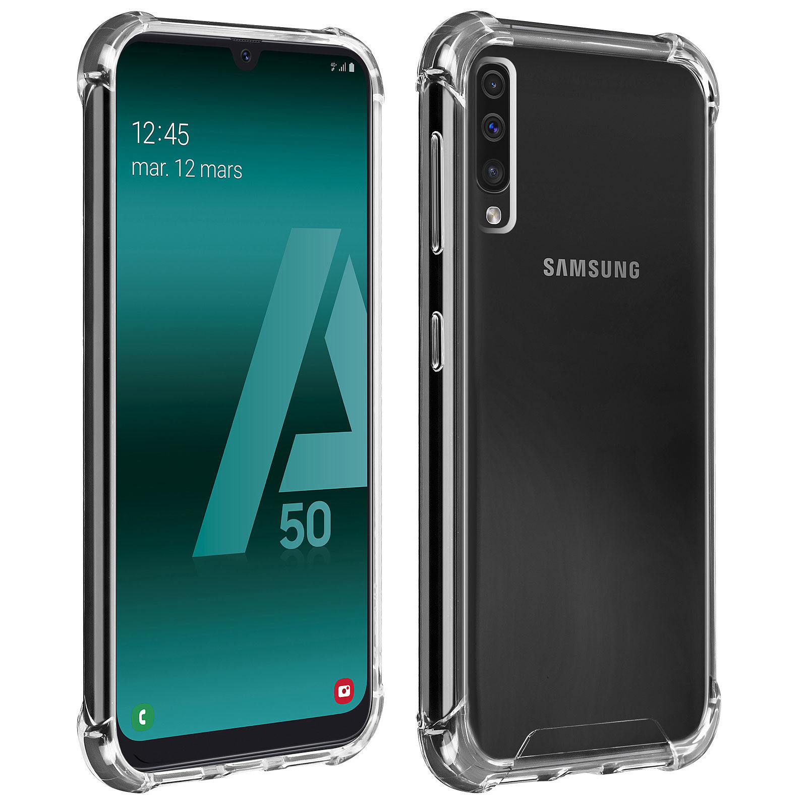 Akashi Coque TPU Angles Renforcés Samsung Galaxy A50
