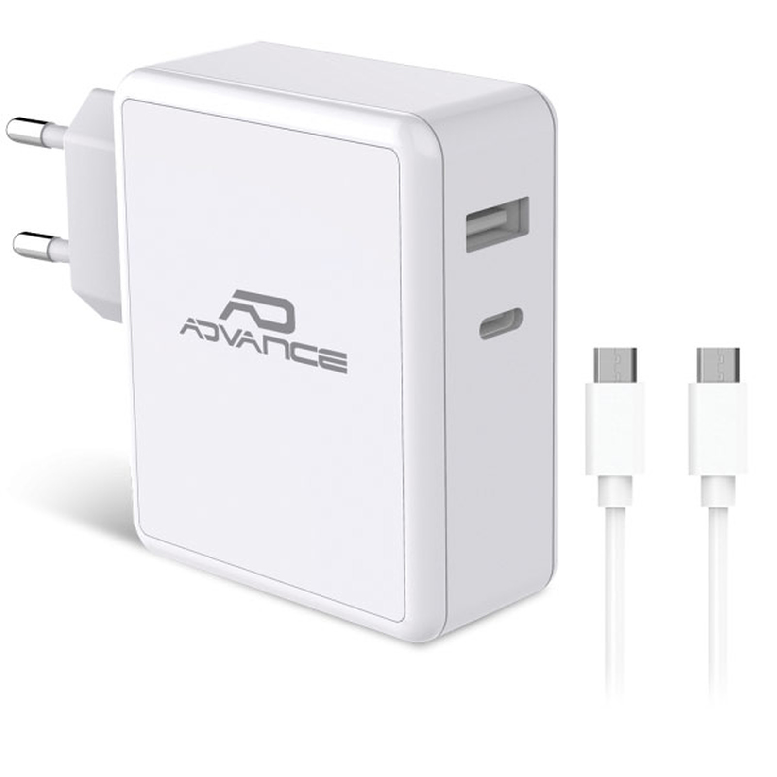 Advance PowerFlex Chargeur mural USB-C et USB-A 45W (Blanc)