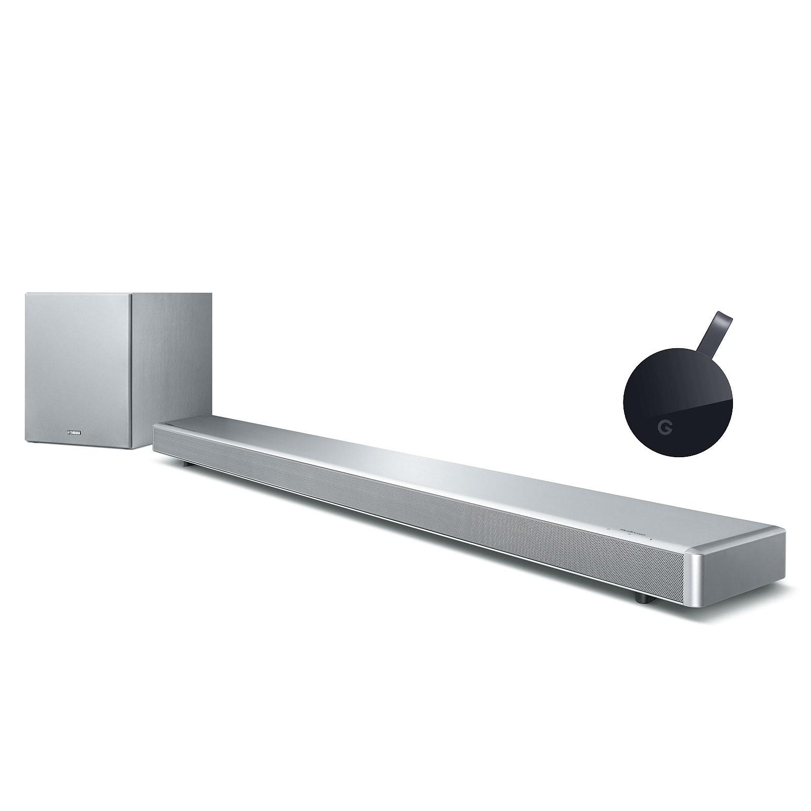 Yamaha MusicCast YSP-2700 Argent + Google Chromecast Ultra