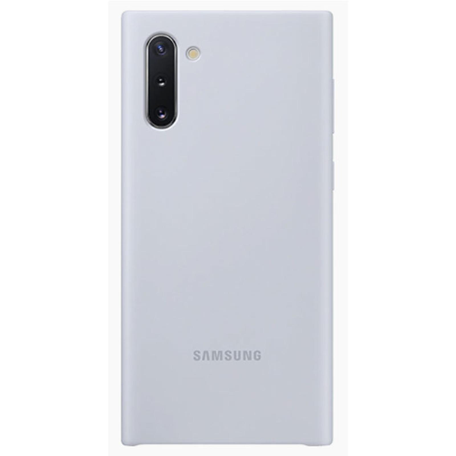 Samsung Coque Silicone Argent Galaxy Note 10