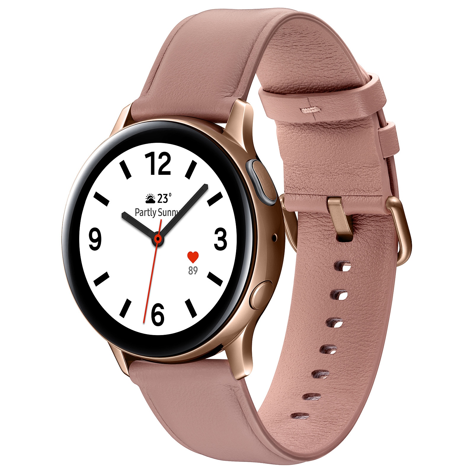 Samsung Galaxy Watch Active 2 (40 mm / Acier / Rose Lumière)
