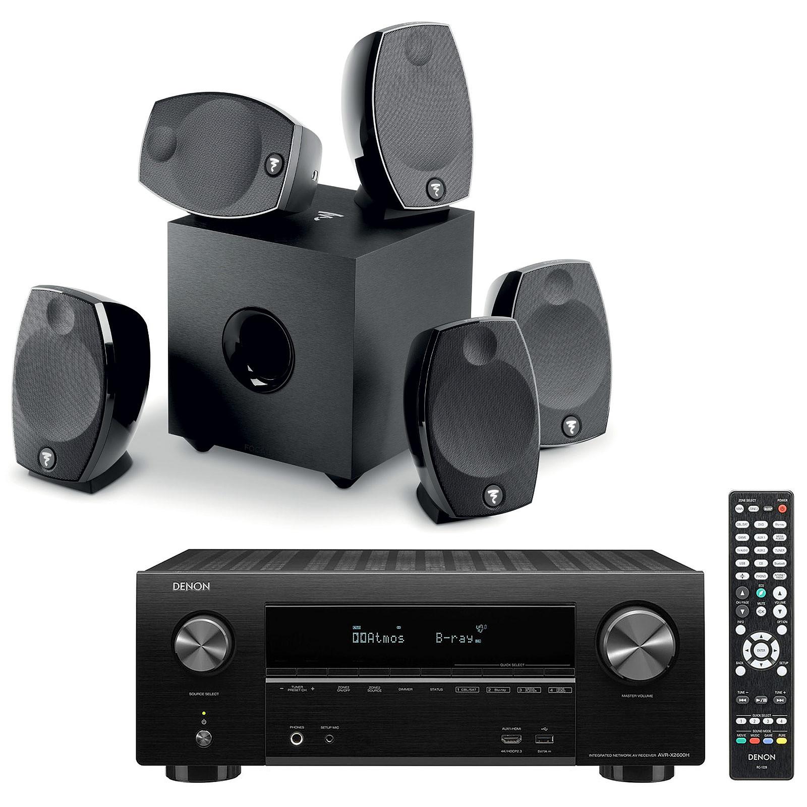 Denon AVR-X2600H Noir + Focal Sib Evo 5.1