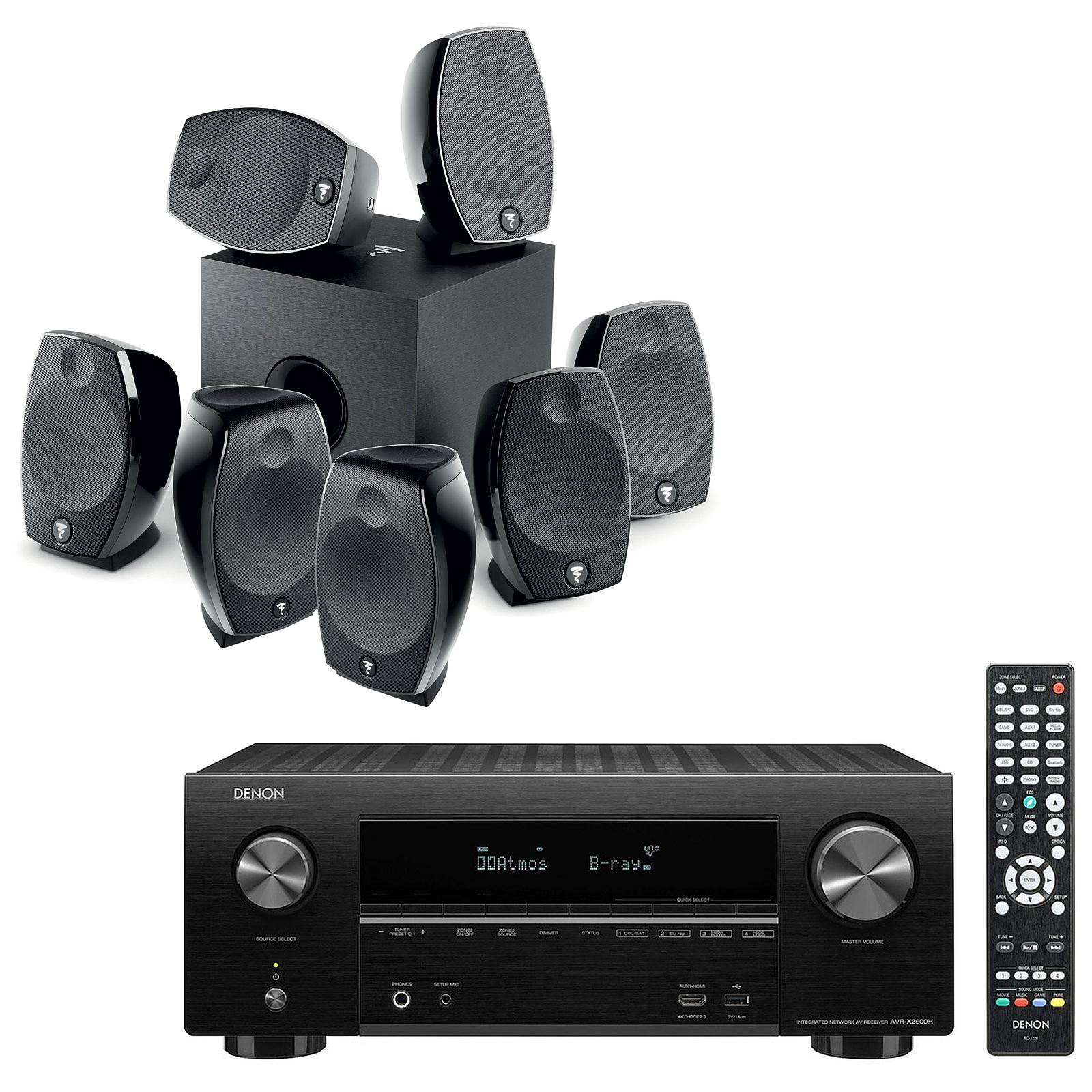 Denon AVR-X2600H Noir + Focal Sib Evo 7.1.2 Dolby Atmos