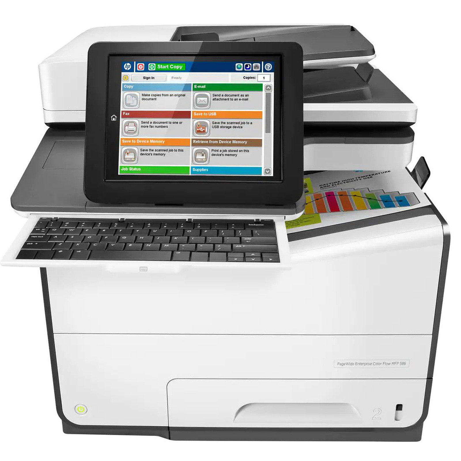 HP PageWide Entreprise ColorFlow MFP 586z