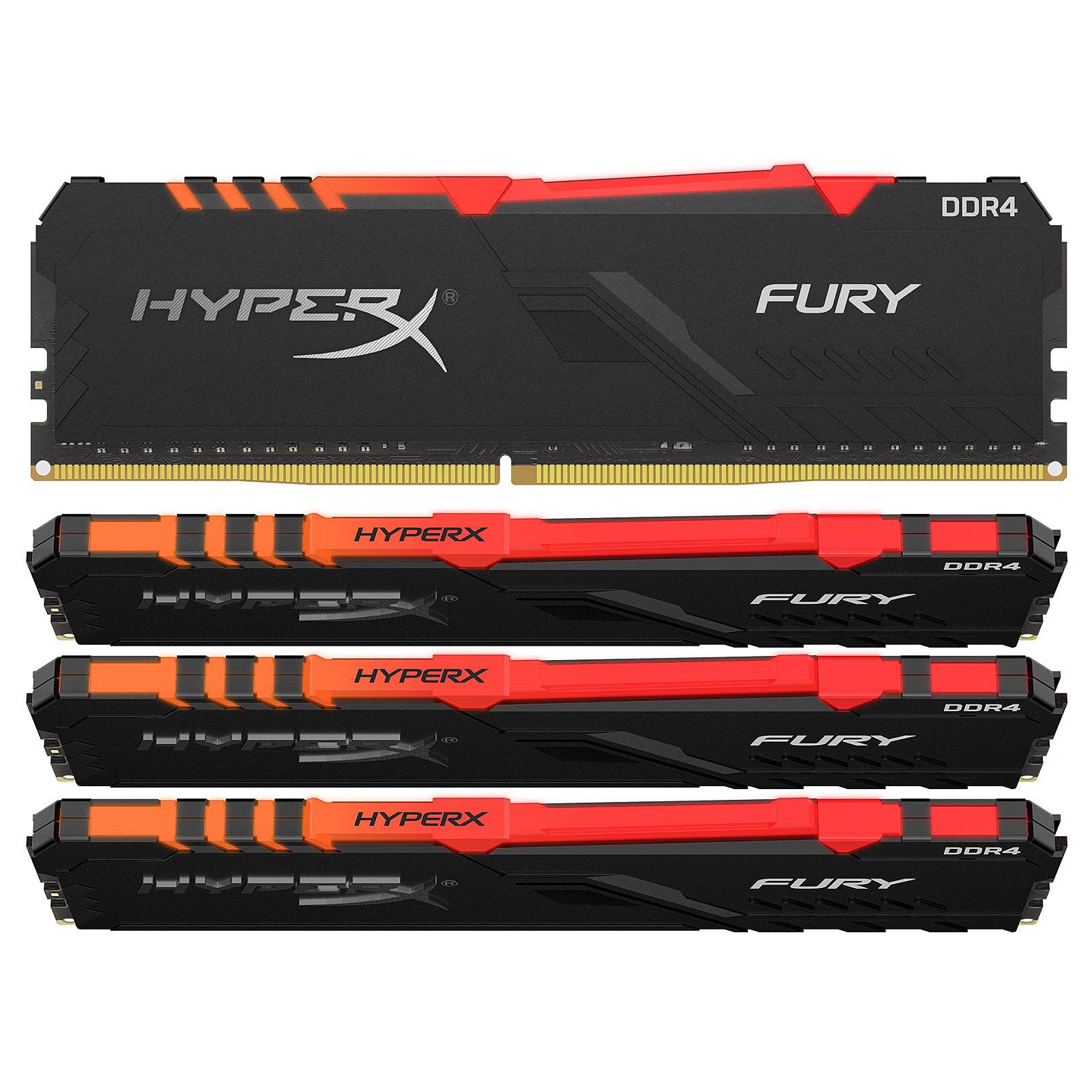 HyperX Fury RGB 64 Go (4x 16 Go) DDR4 2666 MHz CL16