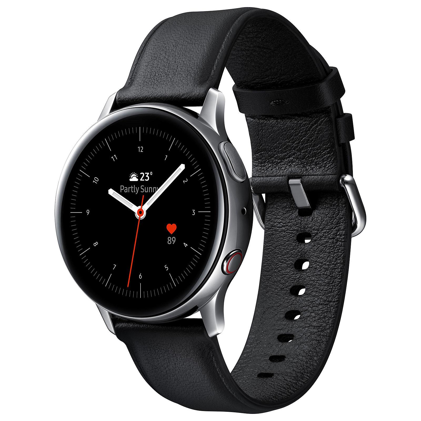 Samsung Galaxy Watch Active 2 4G (40 mm / Acier / Argent Glacier)