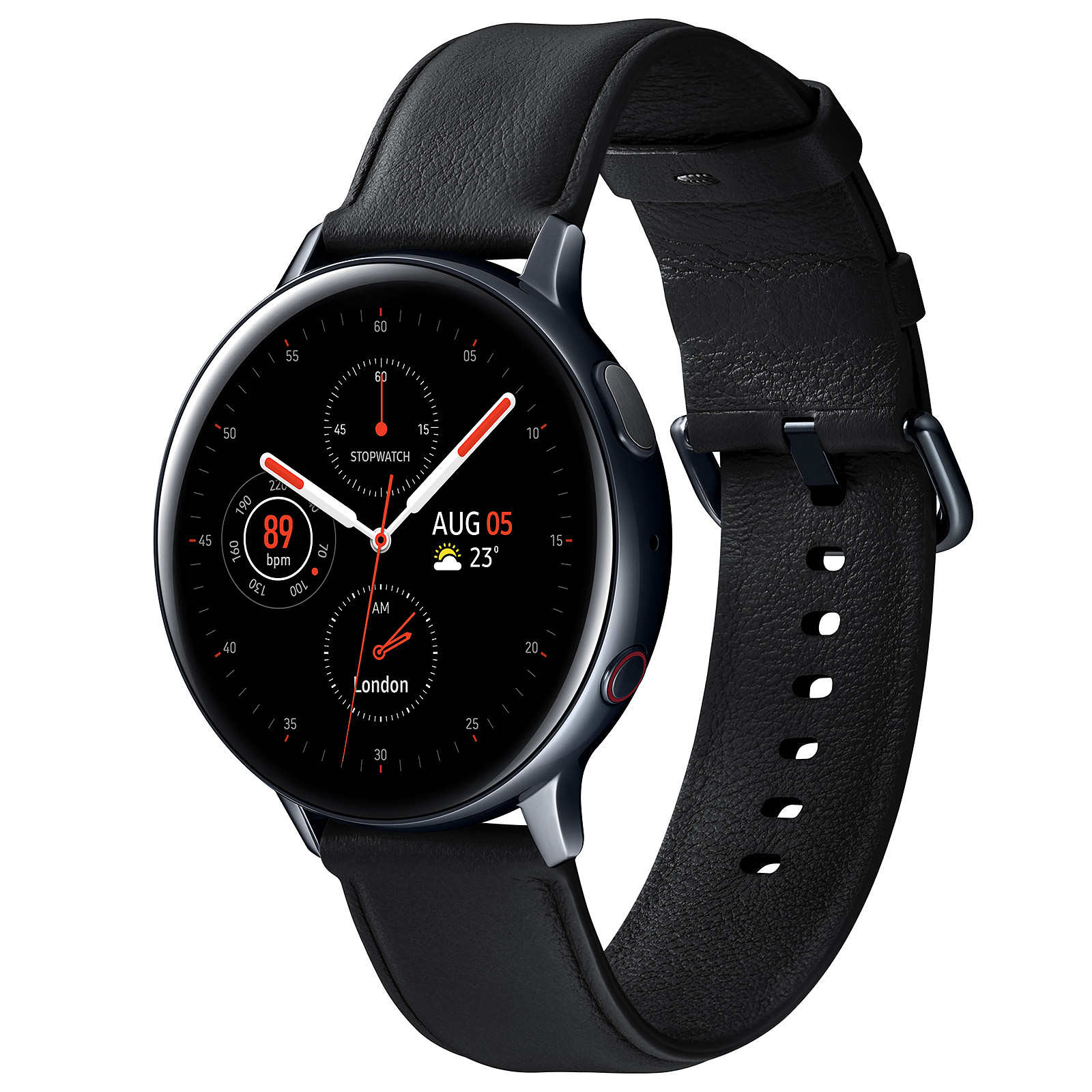 Samsung Galaxy Watch Active 2 4G (44 mm / Acier / Noir Diamant)