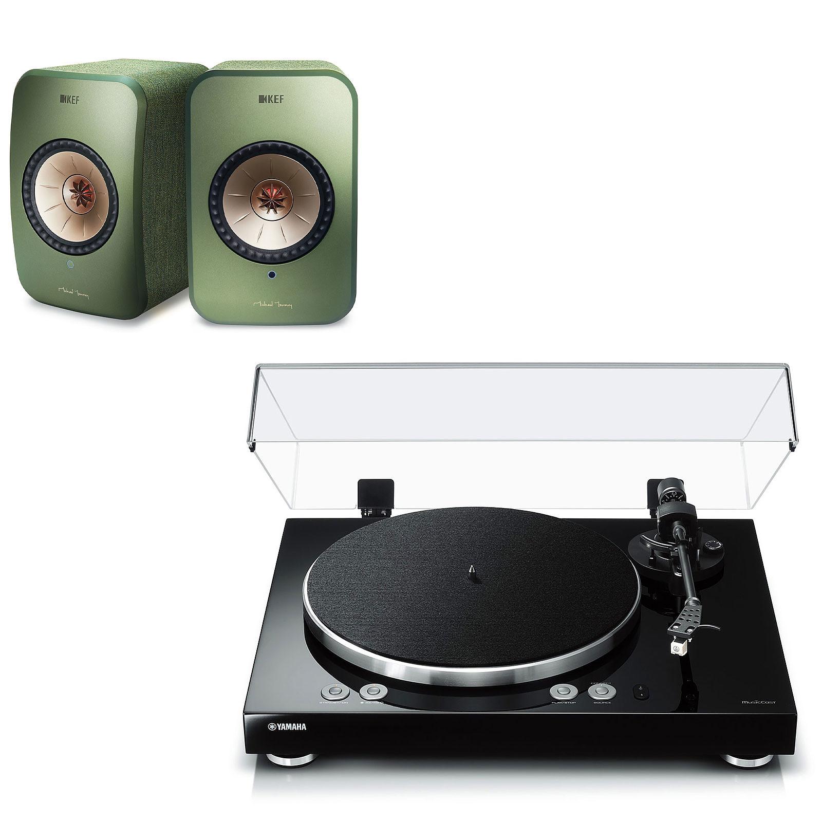 Yamaha MusicCast VINYL 500 Noir + KEF LSX Wireless Vert