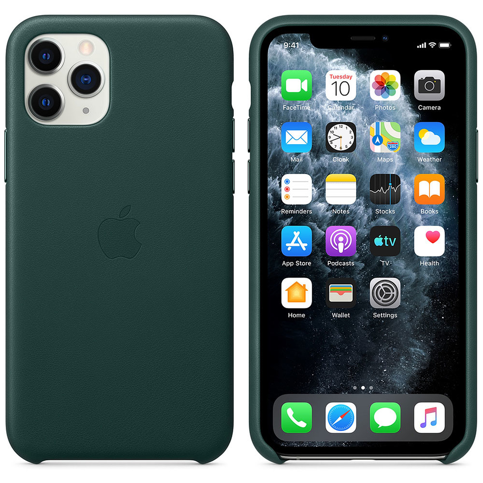 Apple Funda de piel Bosque Verde Apple iPhone 11 Pro