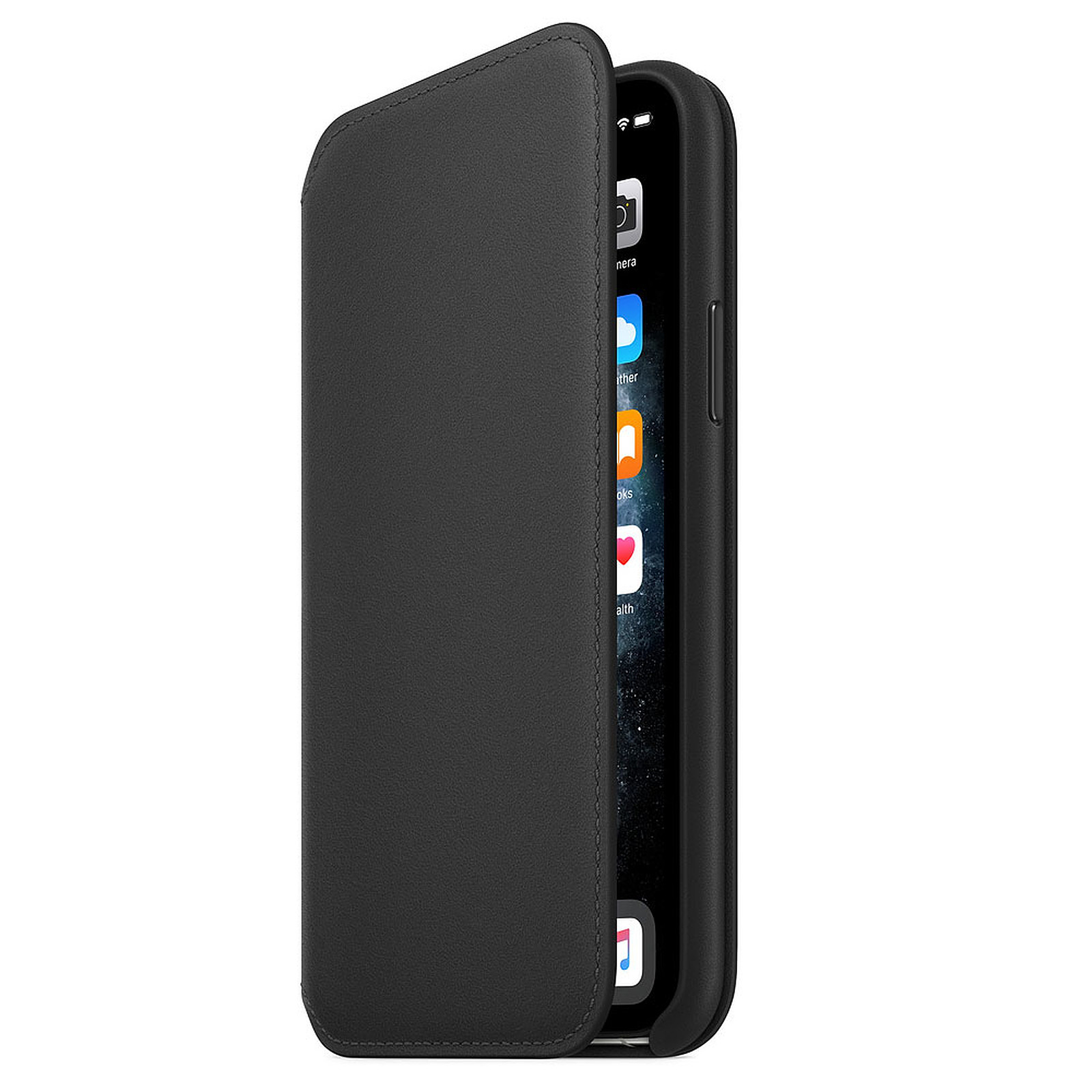Apple Funda Folio de piel Negro Apple iPhone 11 Pro