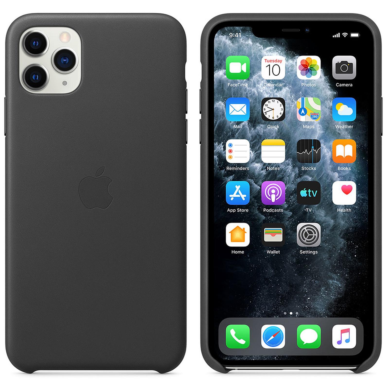 Apple Funda de piel negra Apple iPhone 11 Pro Max