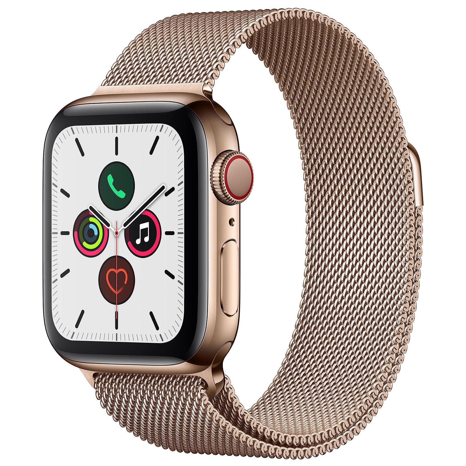 Apple Watch Series 5 GPS + Cellular Acero Oro Pulsera Milanesa Oro 40 mm