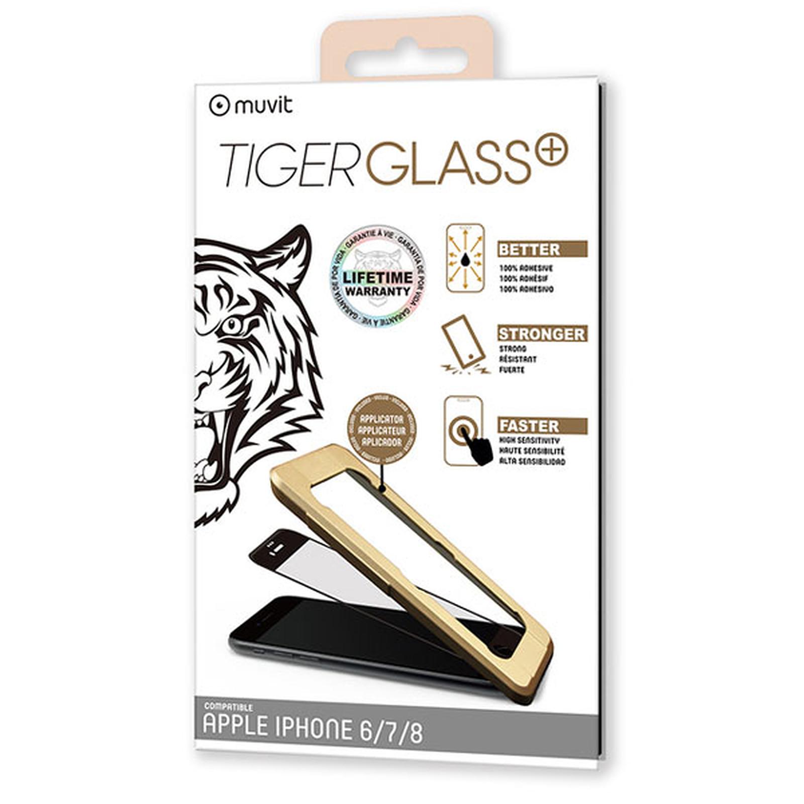 Tiger Glass Plus Verre Trempé Noir Apple iPhone 6/6s/7/8