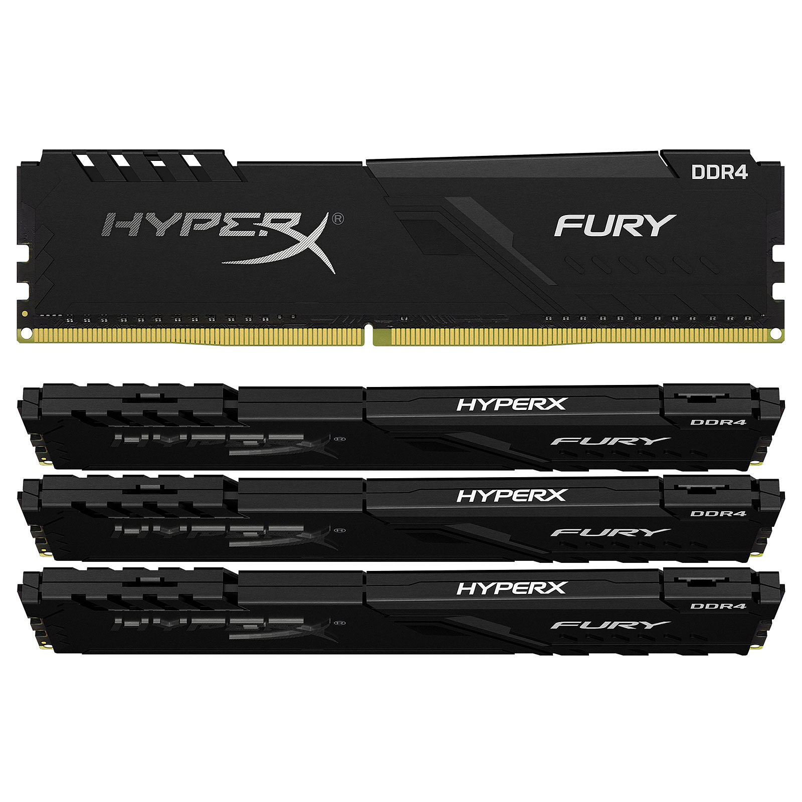 HyperX Fury 16 Go (4 x 4 Go) DDR4 2666 MHz CL16