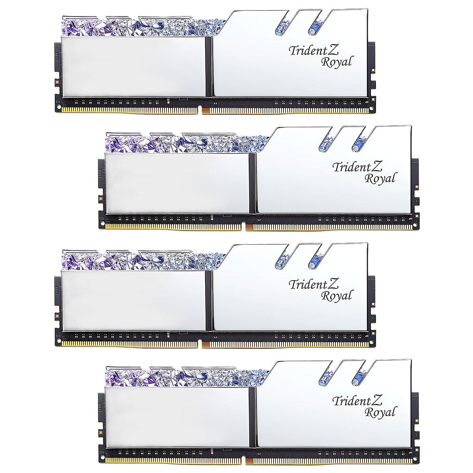 G.Skill Trident Z Royal 128 Go (4 x 32 Go) DDR4 3600 MHz CL18 - Argent