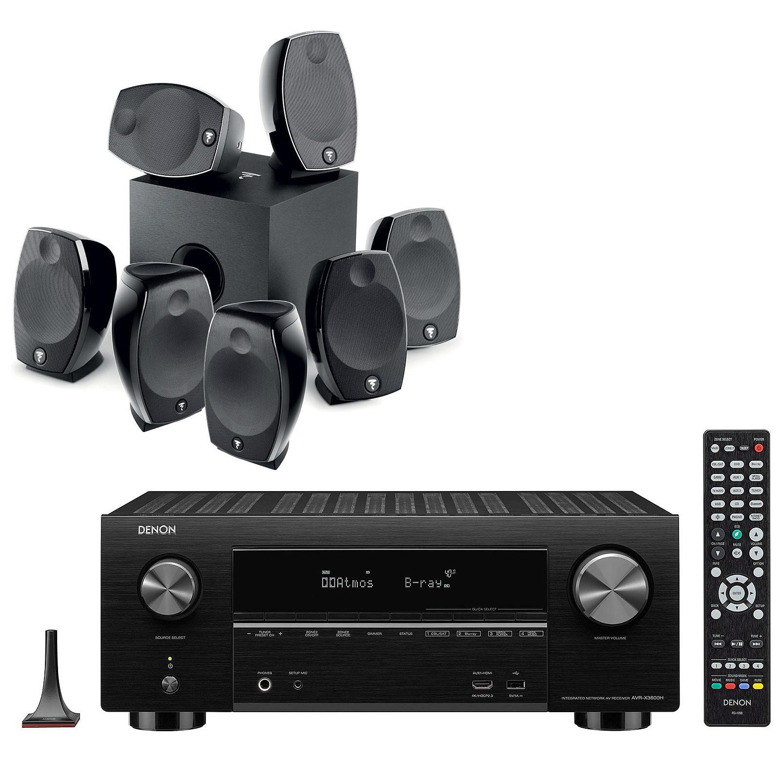 Denon AVR-X3600H Noir + Focal Sib Evo 7.1.2 Dolby Atmos