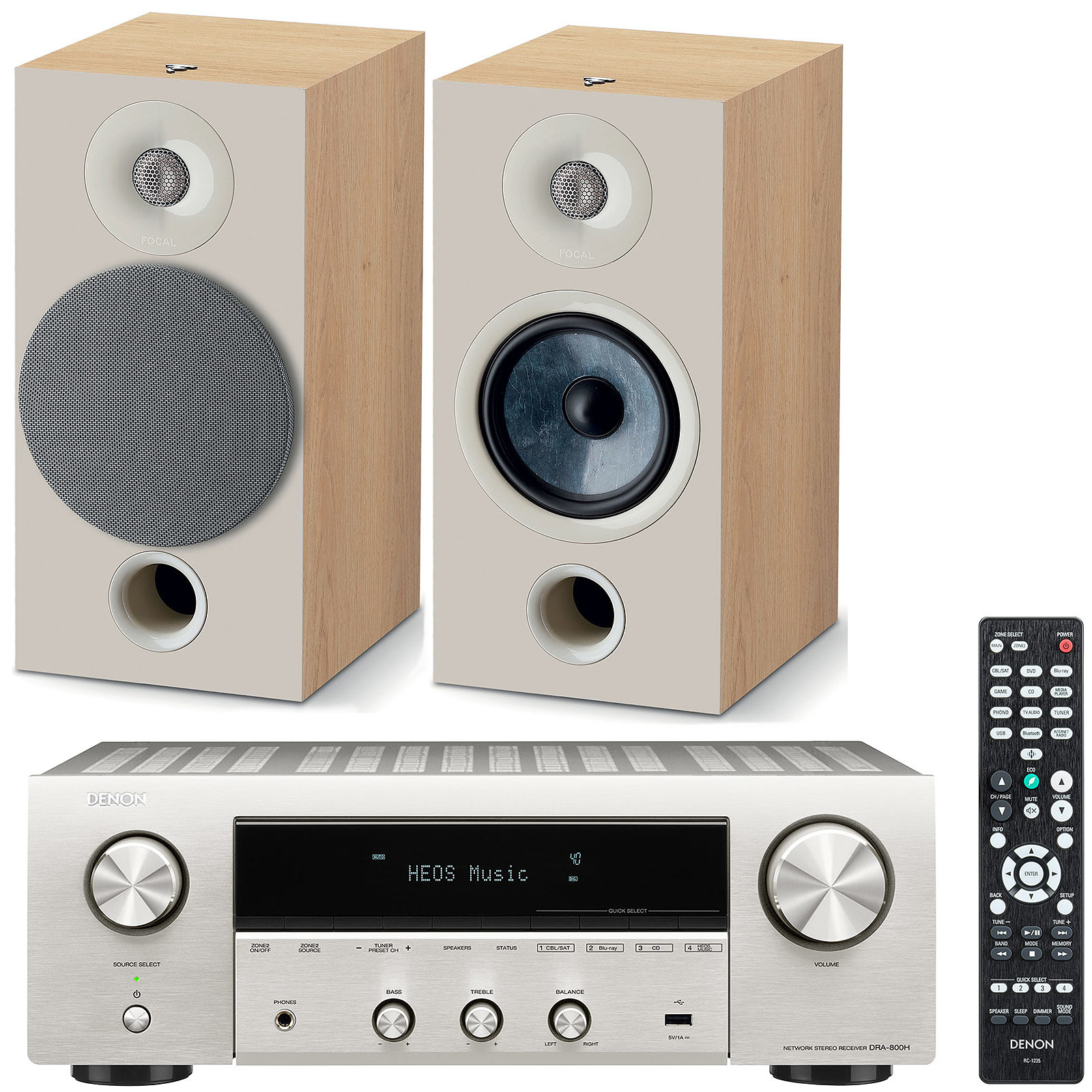 Denon DRA-800H Argent + Focal Chora 806 Light Wood