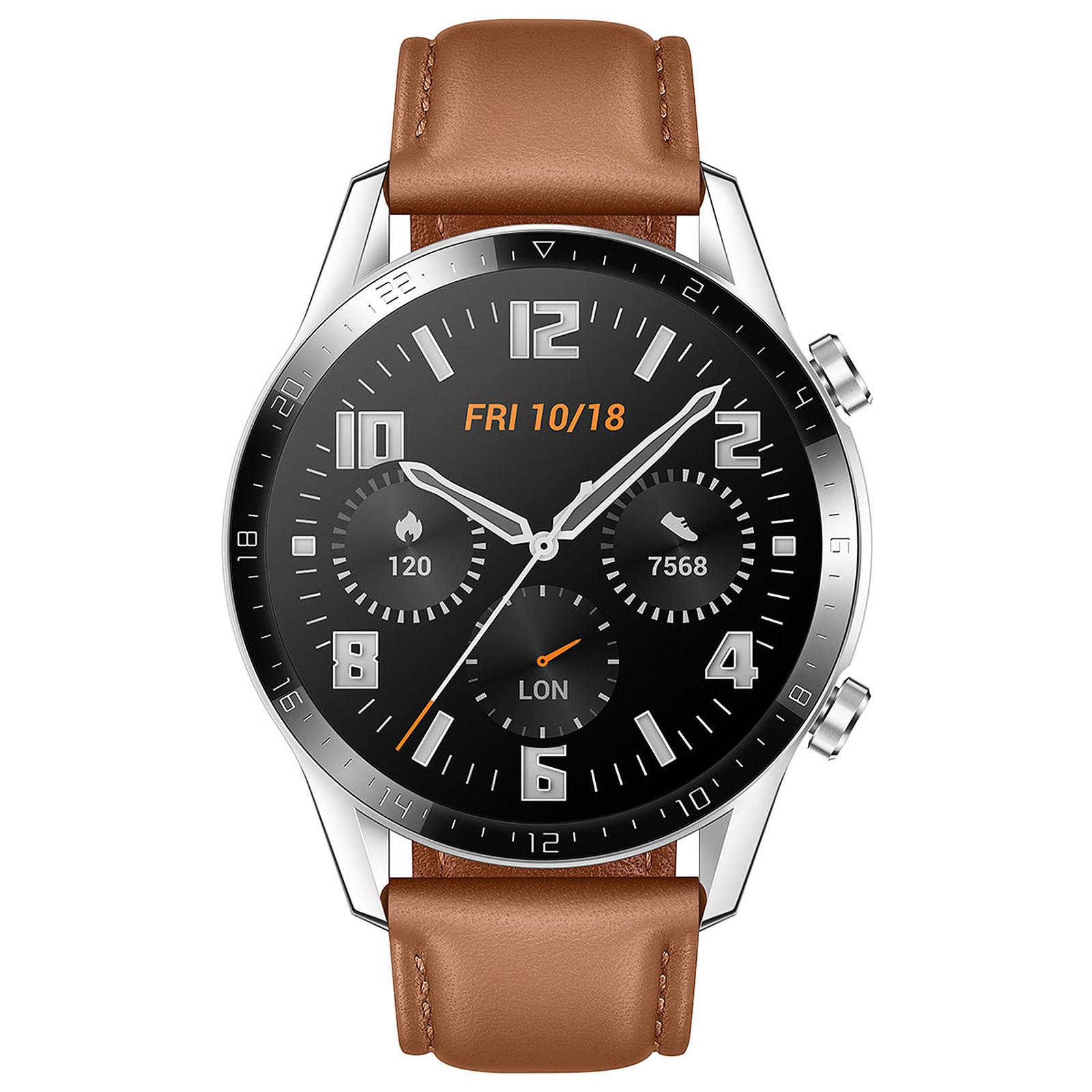 Huawei Watch GT 2 (46 mm / Cuir / Marron)