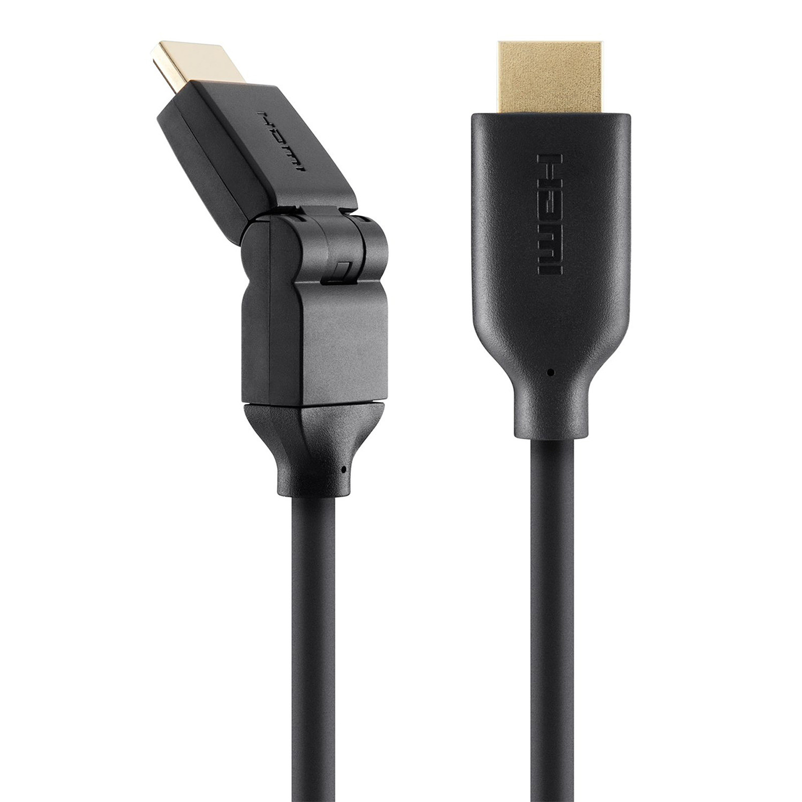 Belkin Câble HDMI High Speed Pivotant avec Ethernet - 2 mètres (F3Y023BT2M)