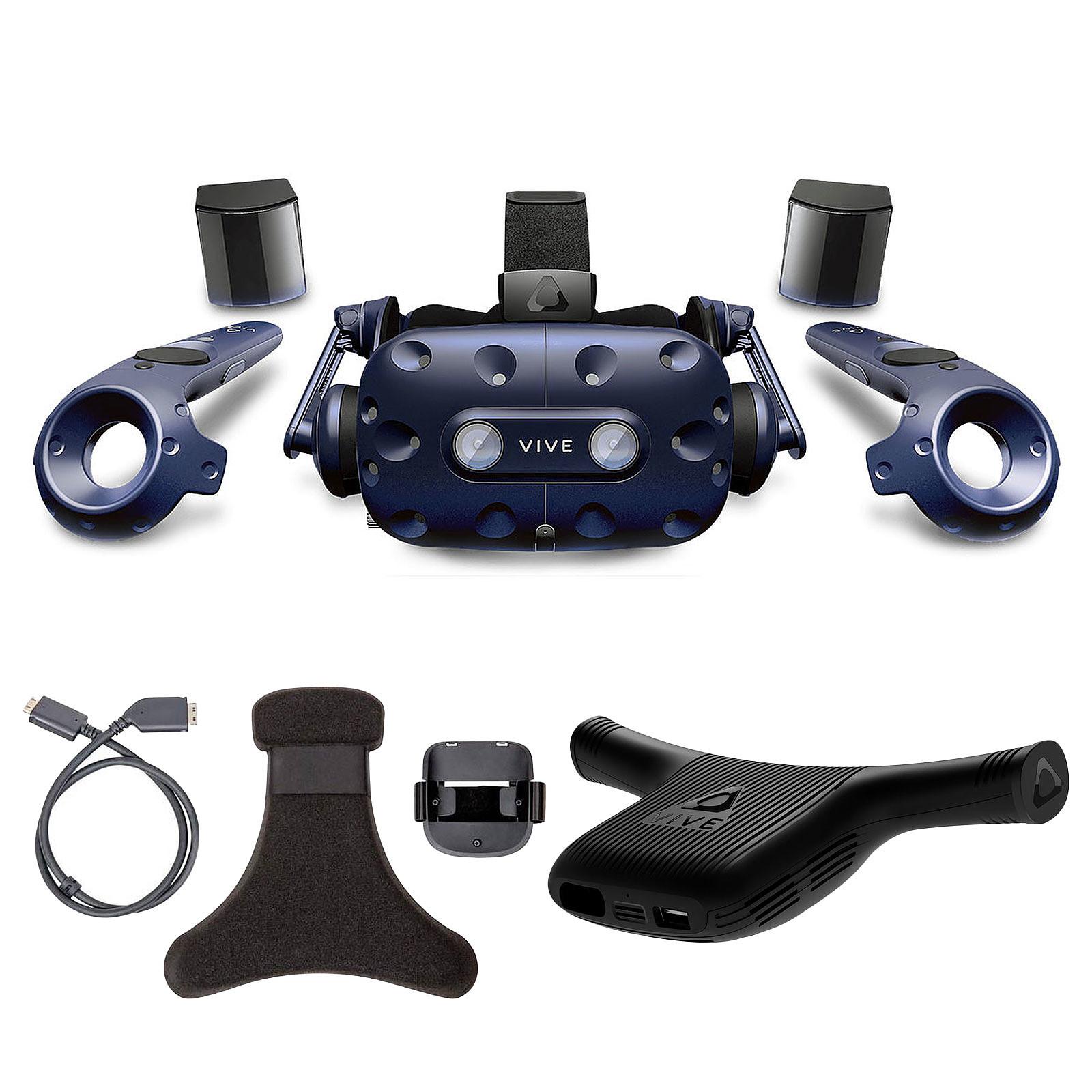 HTC Vive Pro Complete Edition + Wireless Adaptator + Wireless Adaptator Clip