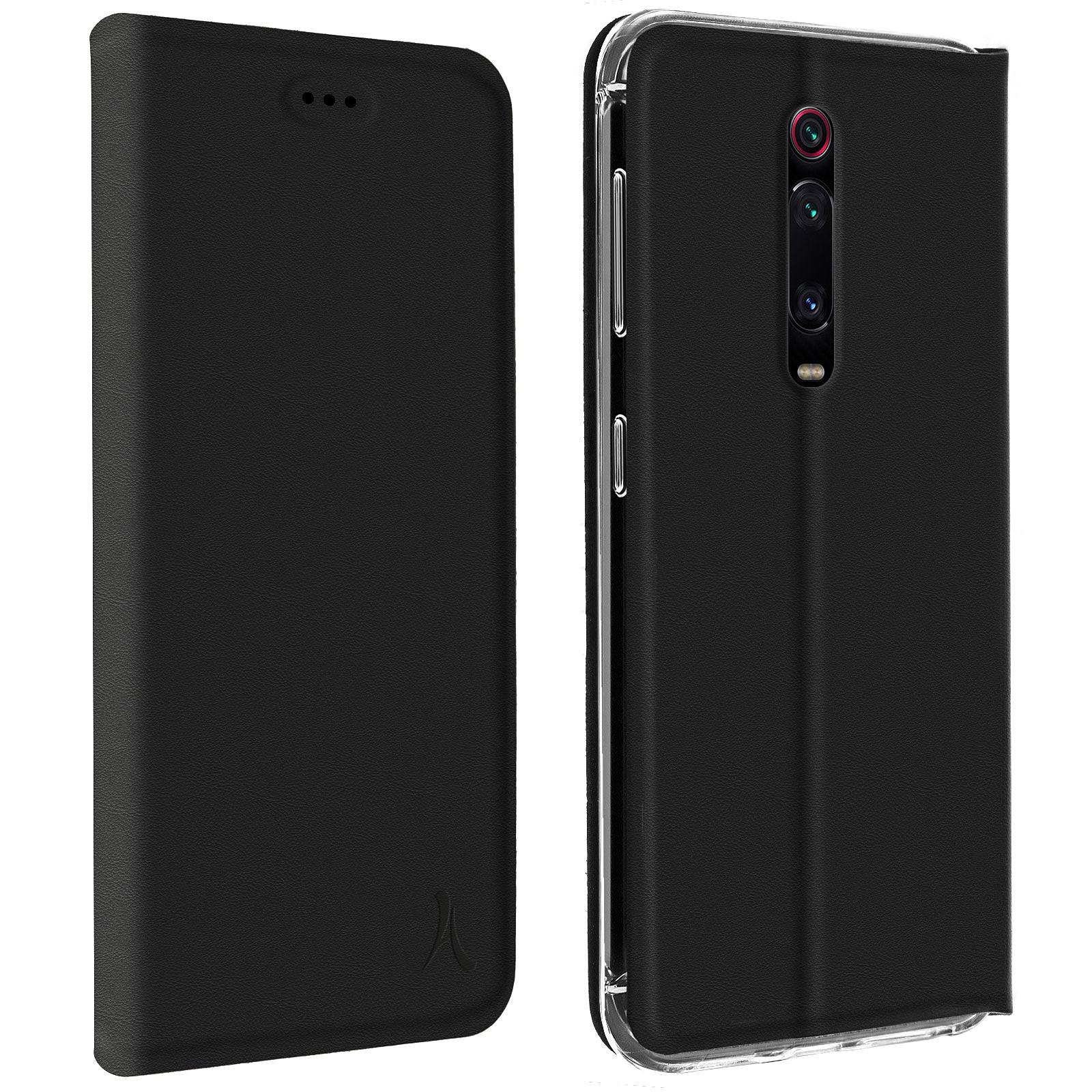 Akashi Etui Folio Porte Carte Noir Xiaomi Mi 9T / 9T Pro