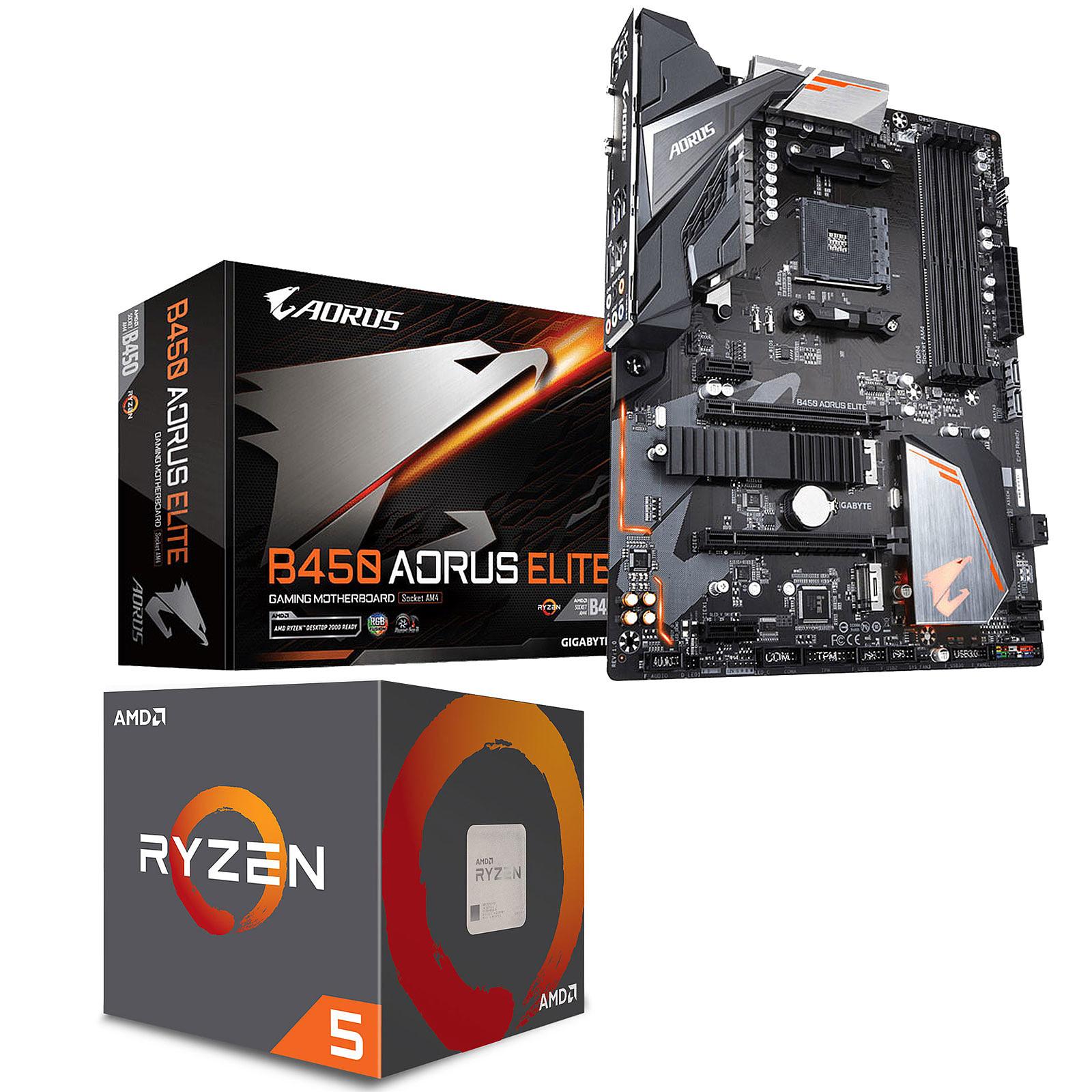 Kit Upgrade PC AMD Ryzen 5 2600 Gigabyte B450 AORUS ELITE