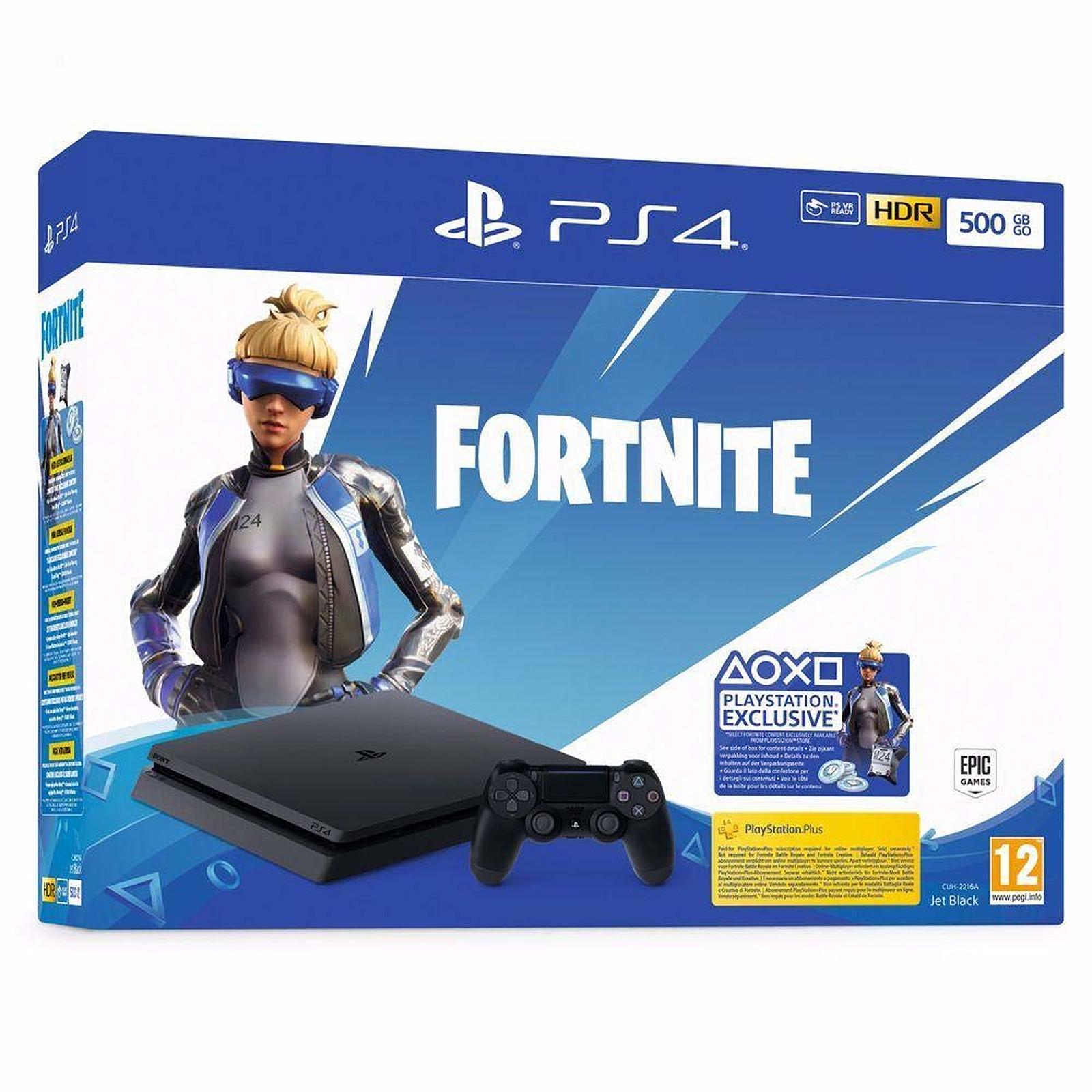 Sony PlayStation 4 Slim (500 Go) + Fortnite