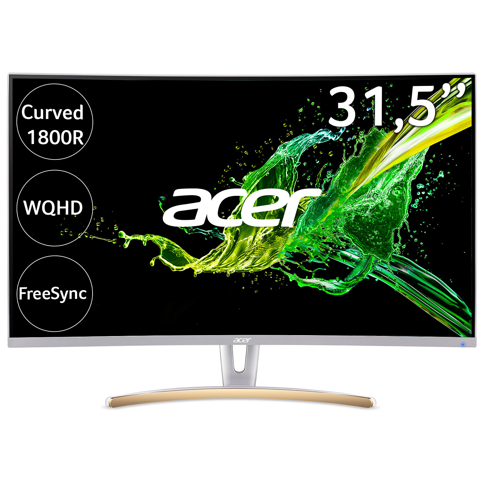 Acer 315 Led Ed323qurwidpx Blanc