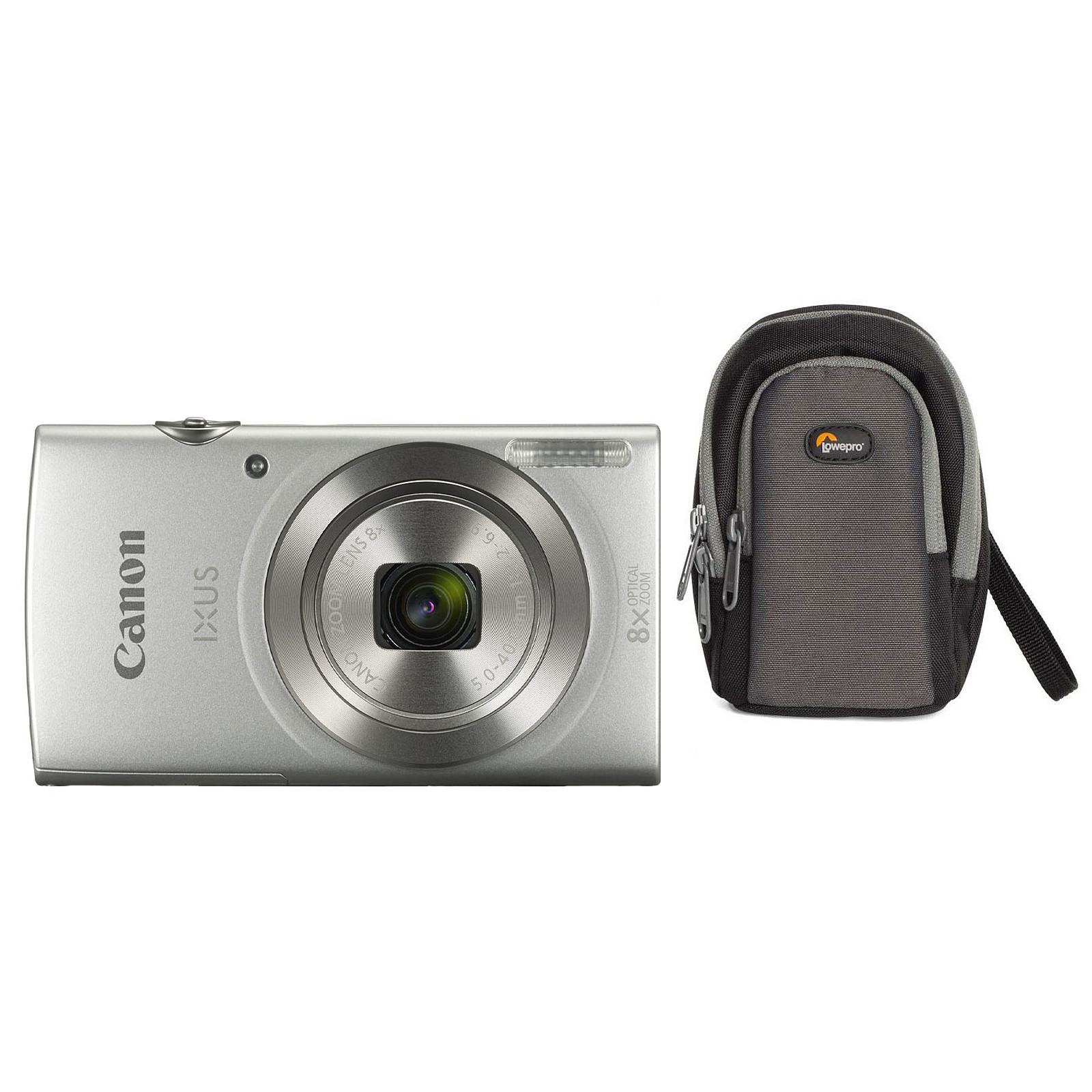 Canon IXUS 185 Argent + Lowepro Portland 30 Noir