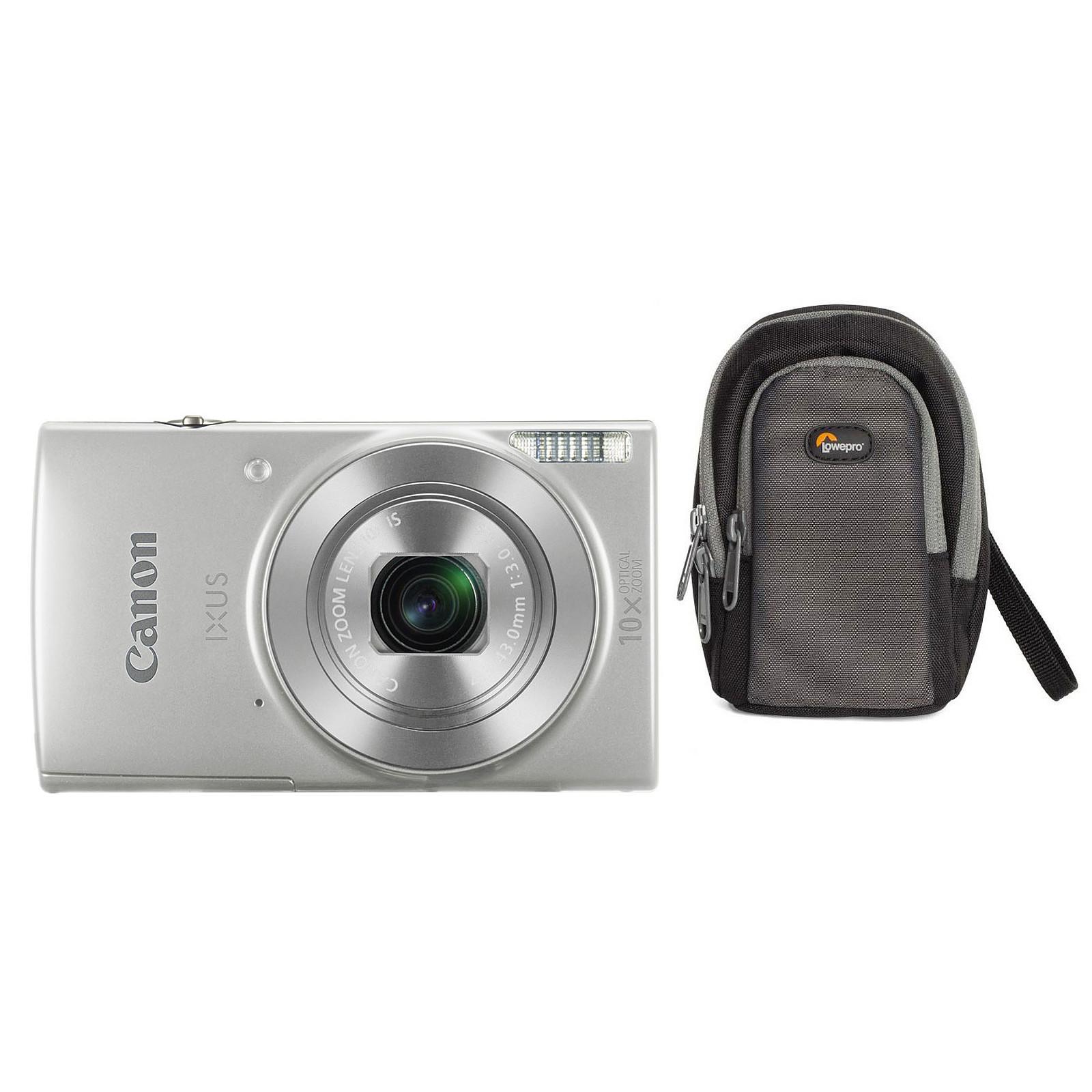 Canon IXUS 190 Argent + Lowepro Portland 30 Noir