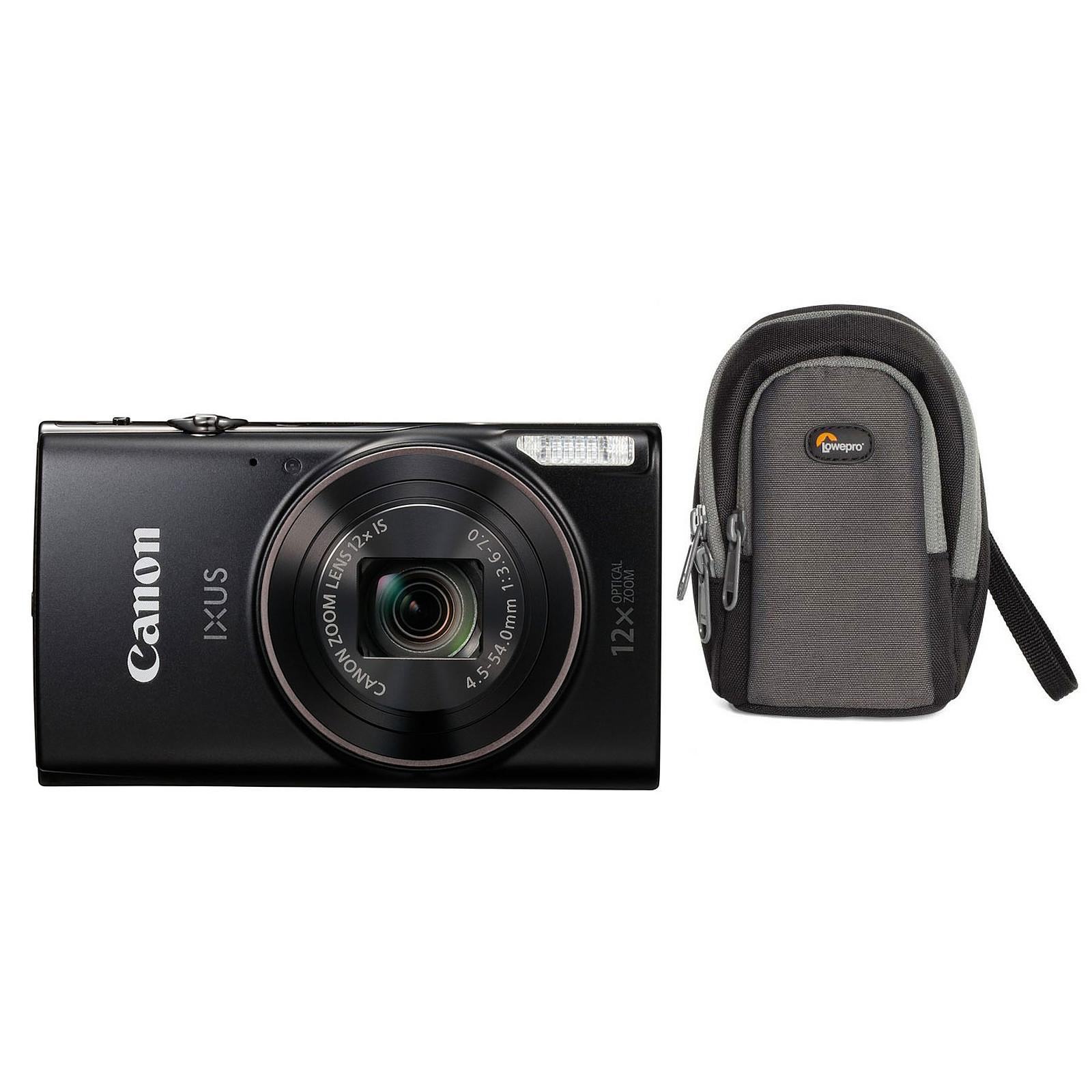 Canon IXUS 285 HS Noir + Lowepro Portland 30 Noir