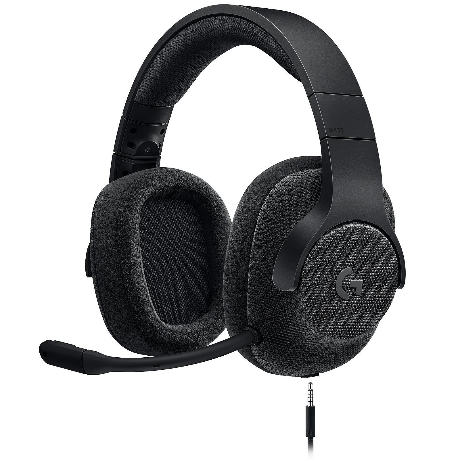 Logitech G433 7.1 Surround Sound Wired Gaming Headset Noir
