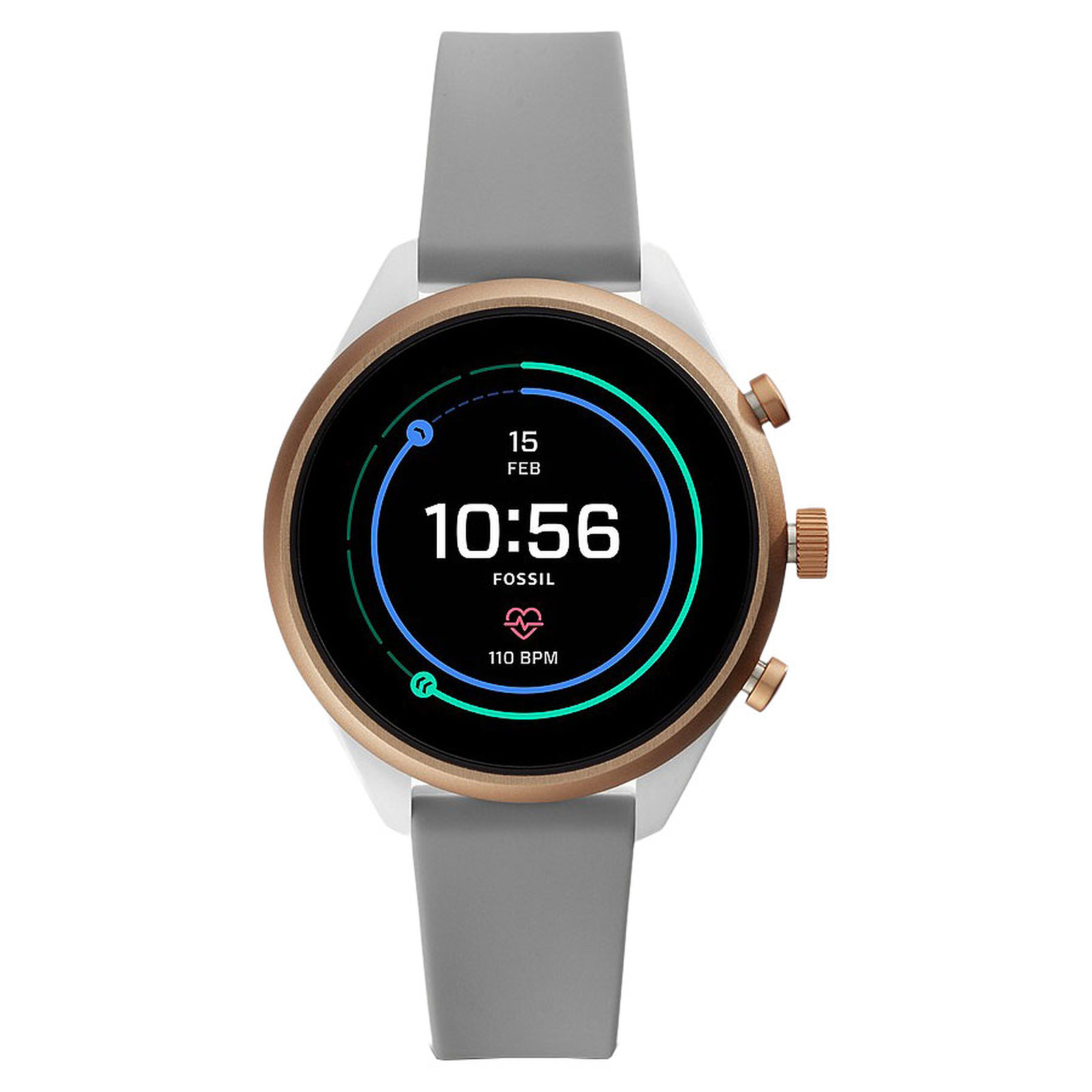 Fossil Sport 41 Smartwatch (41 mm / Silicona / Gris)