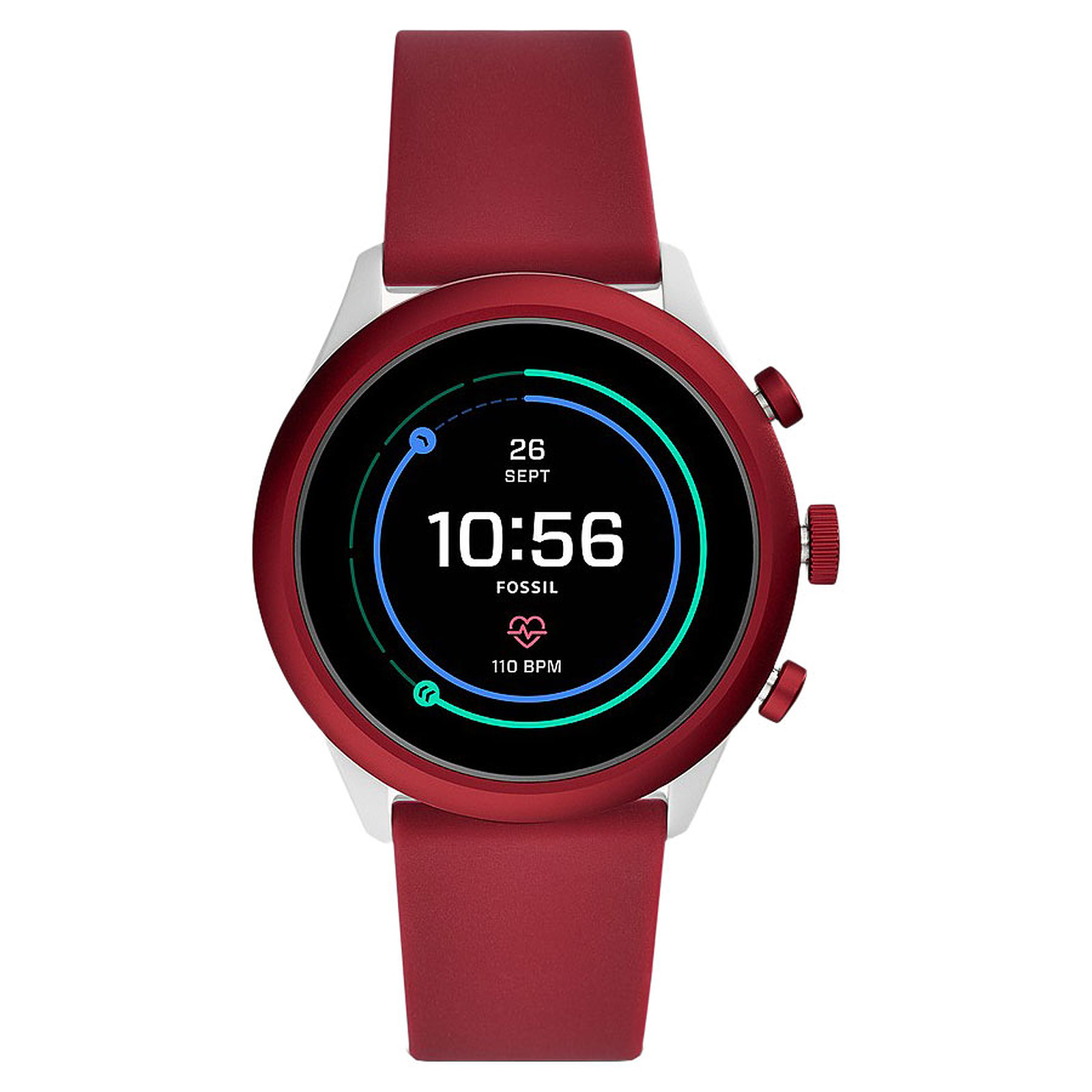 Fossil Sport 43 Smartwatch (43 mm / Silicone / Rouge)