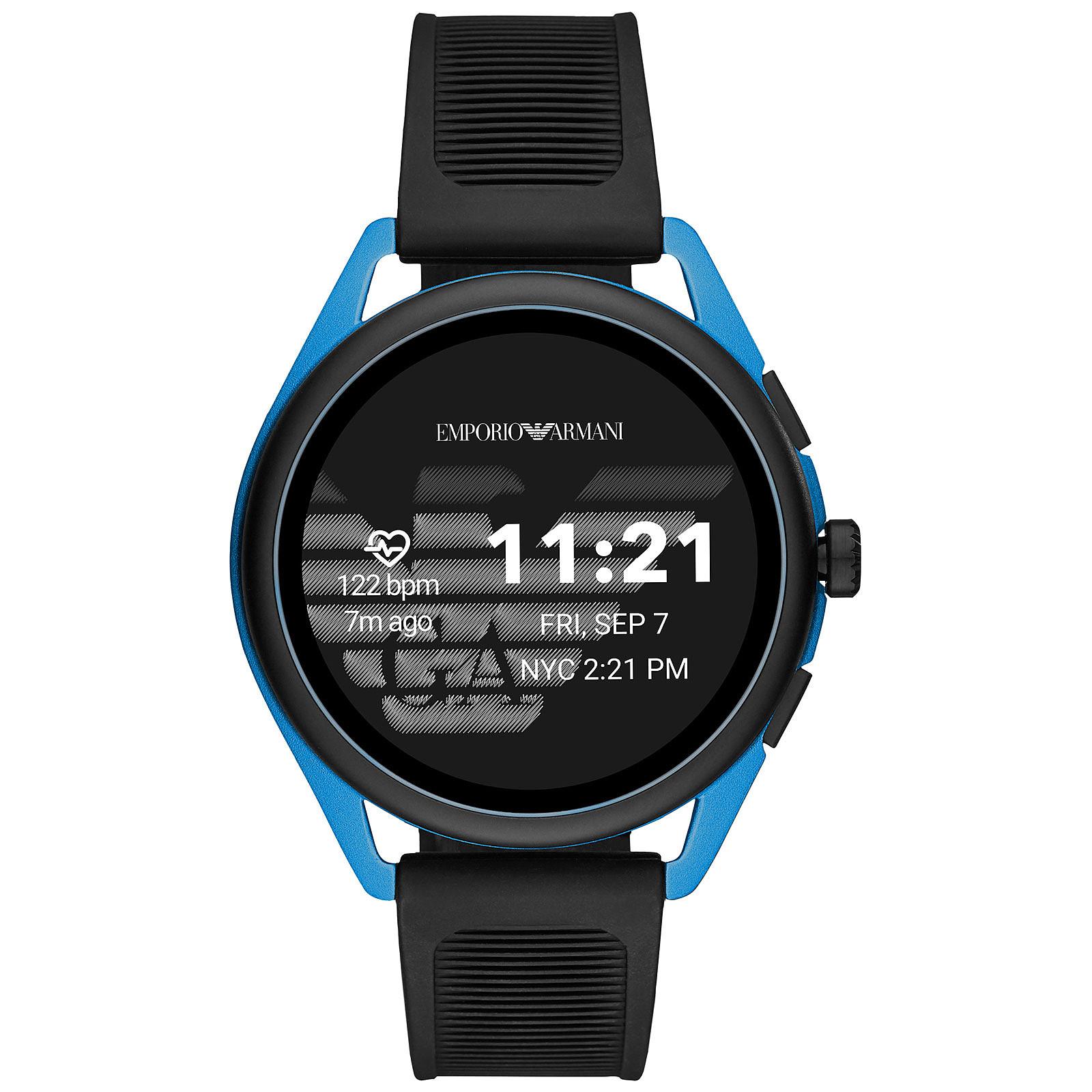 Emporio Armani Connected Smartwatch 3 Gen.5 (44.5 mm / Goma / Negro y Azul)