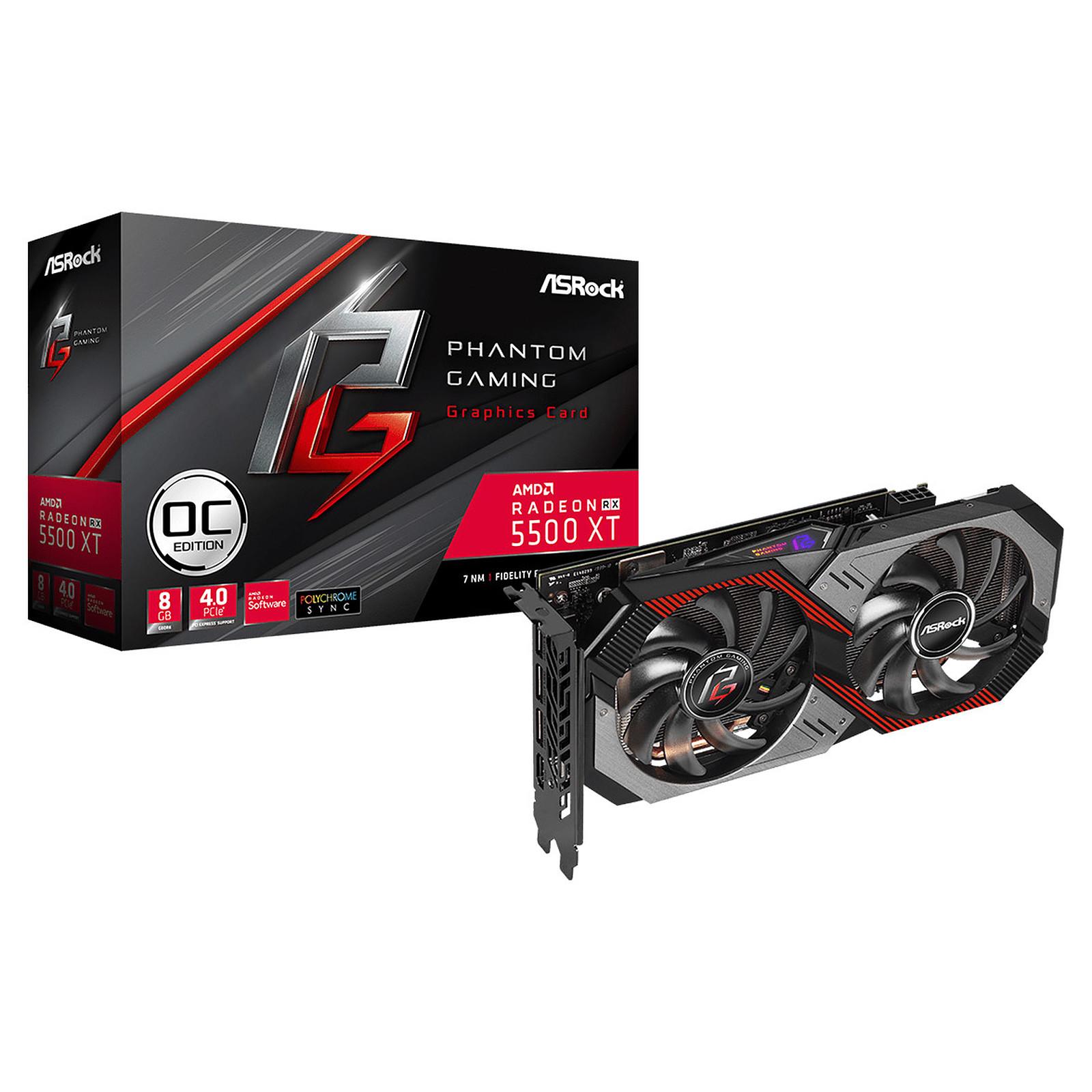 ASRock Radeon RX 5500 XT Phantom Gaming D 8G OC
