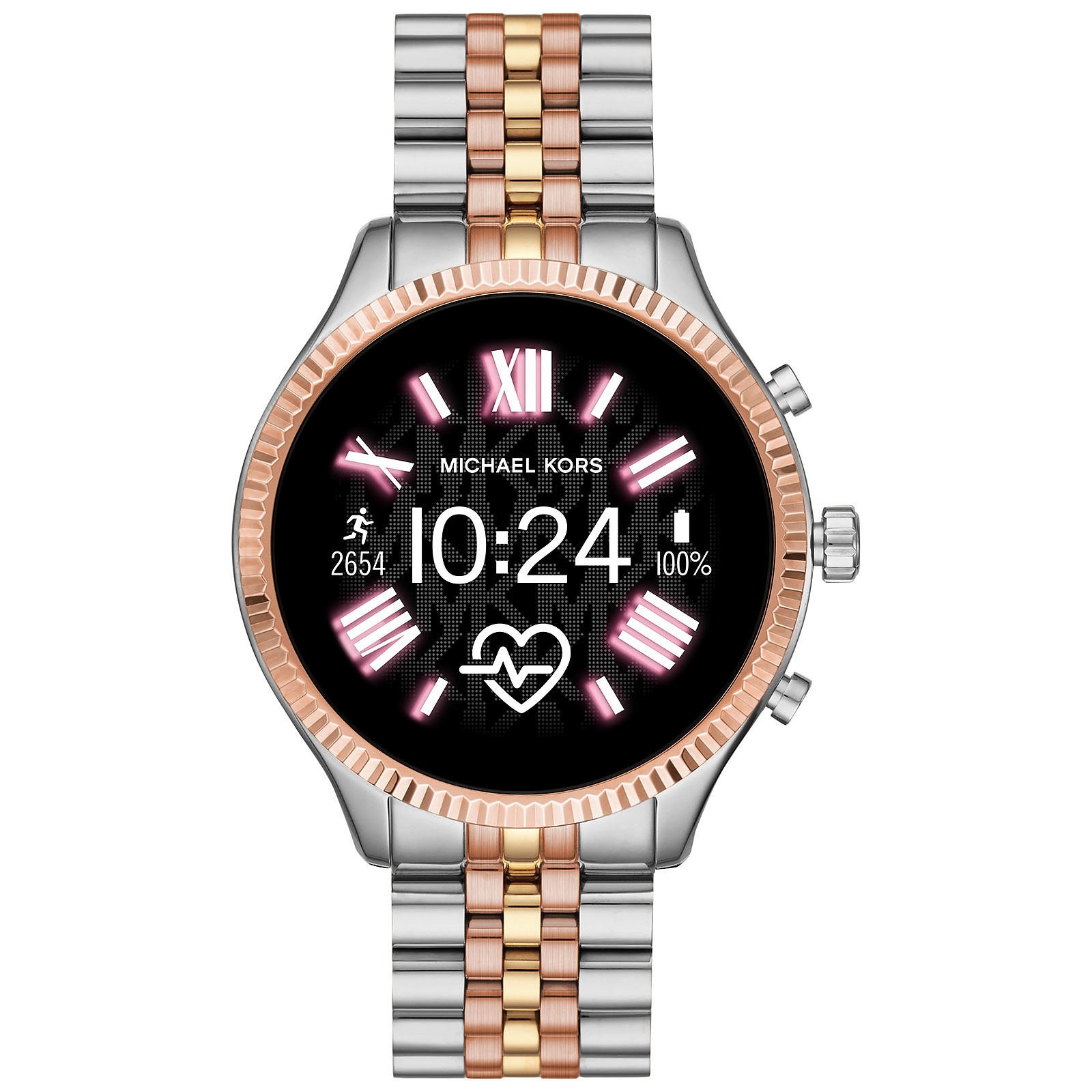 Michael Kors Access Lexington Gen.5 (44 mm / Acier / Argent, Rose et Or)