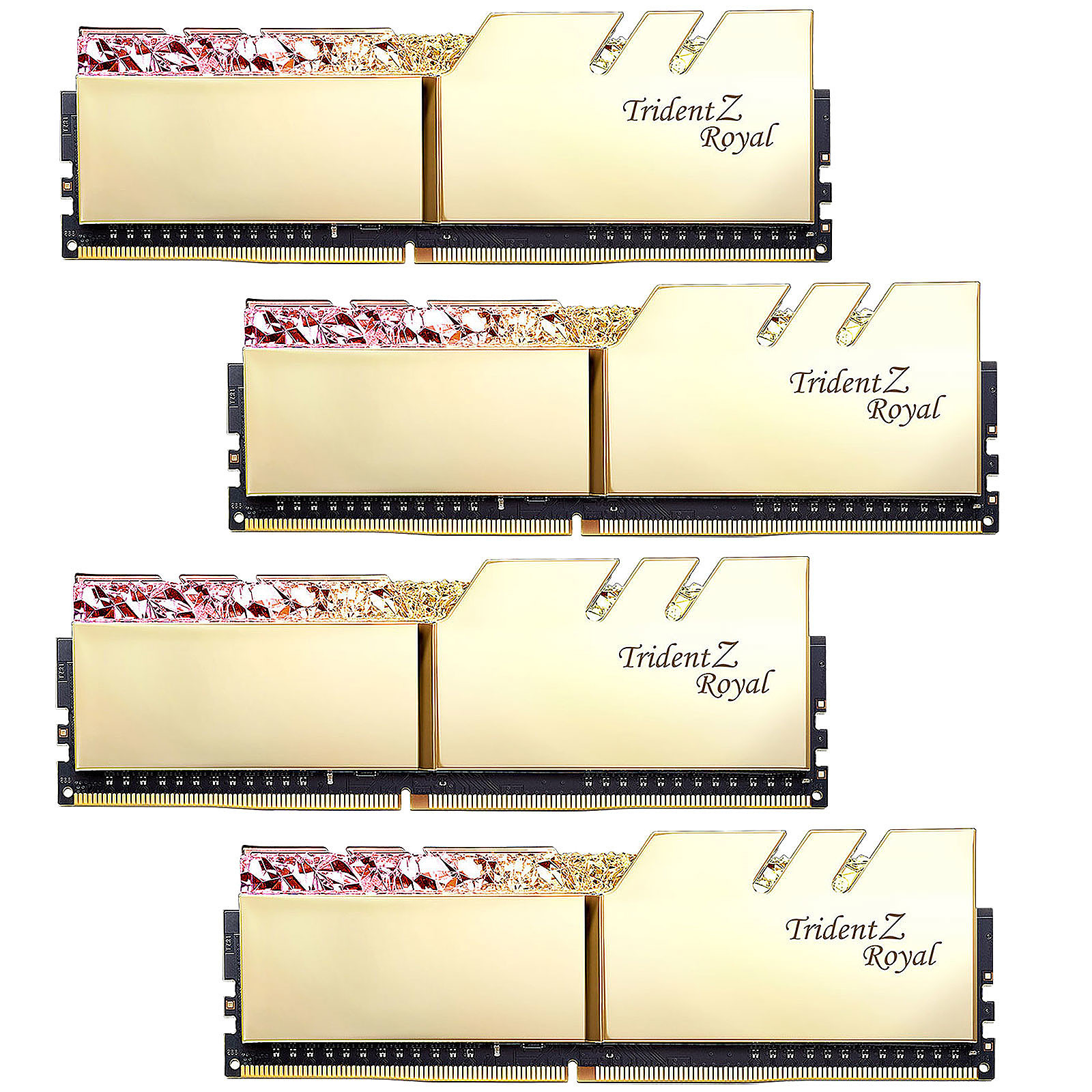 G.Skill Trident Z Royal 128 Go (4 x 32 Go) DDR4 2666 MHz CL18 - Or