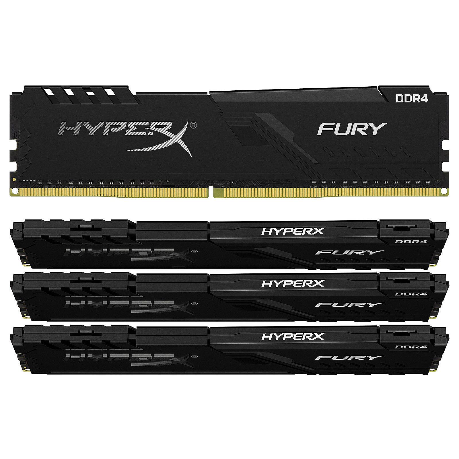 HyperX Fury 128 GB (4x 32 GB) DDR4 2400 MHz CL15