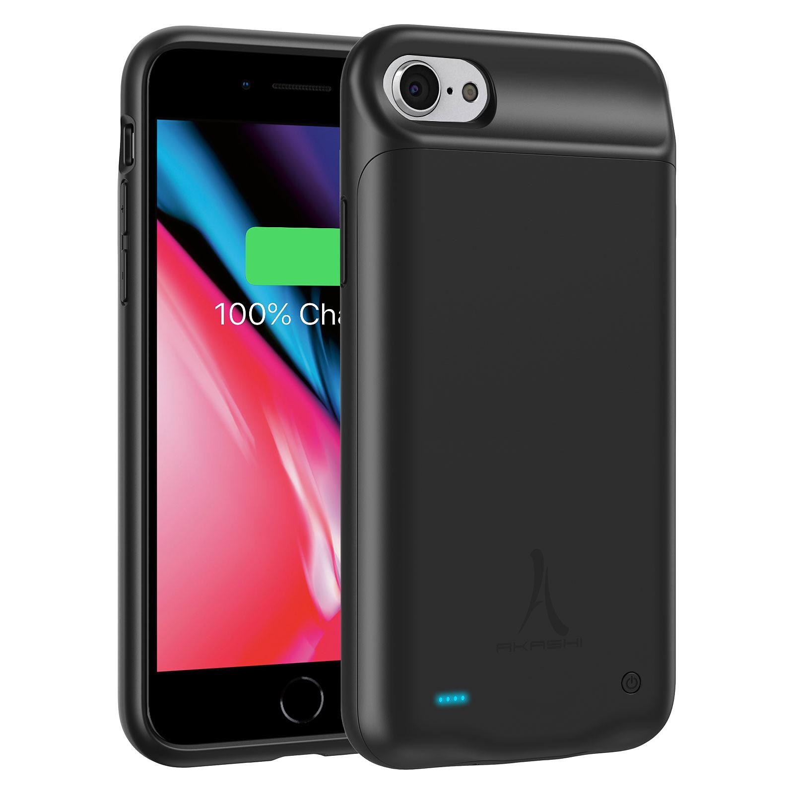 Akashi Coque Batterie Noire iPhone 6 / 7 / 8