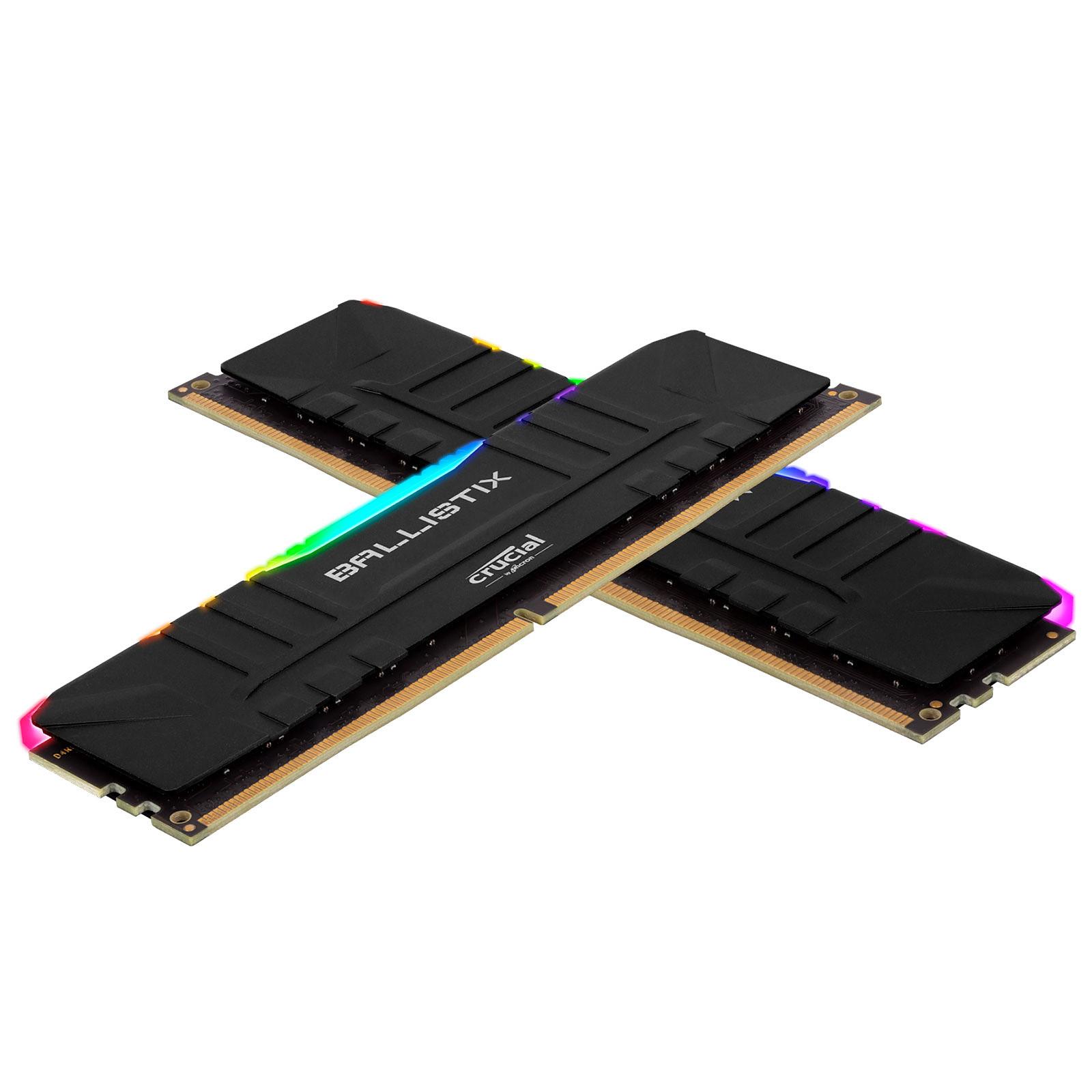 Ballistix Black RGB DDR4 32 Go (2 x 16 Go) 3000 MHz CL15