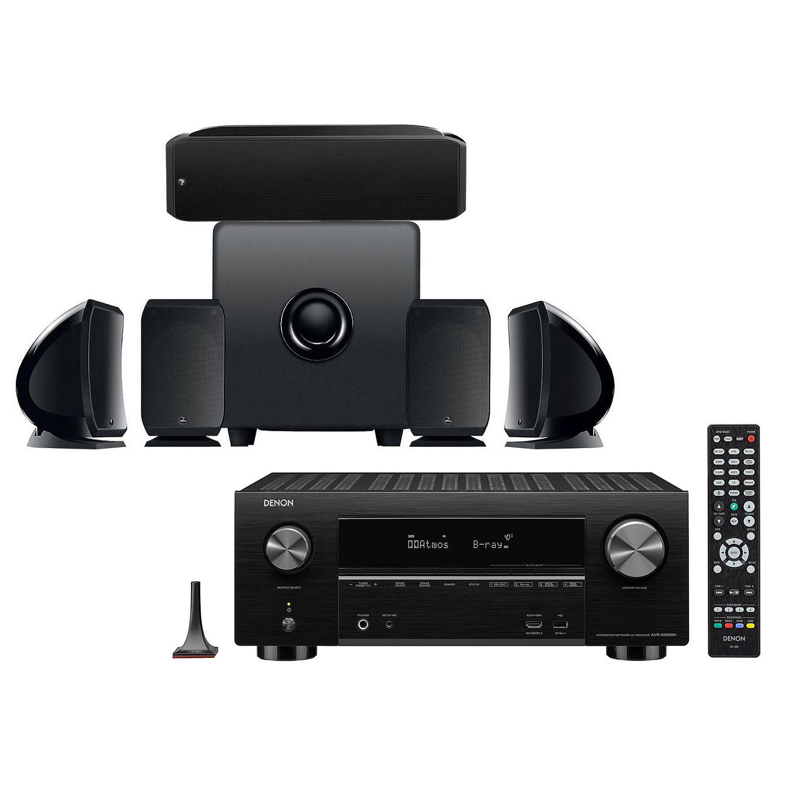 Denon AVR-X3600H Noir + Focal Pack Cinema+