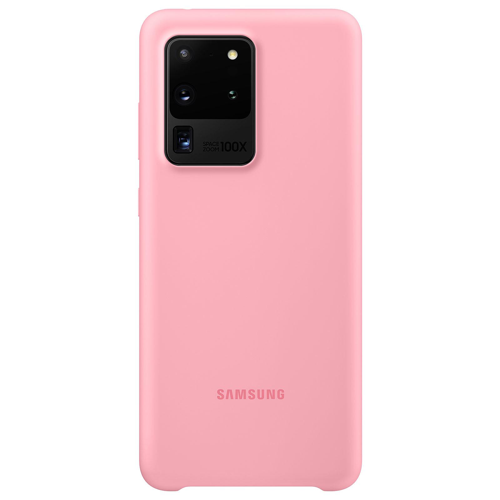 Samsung Coque Silicone Rose Galaxy S20 Ultra