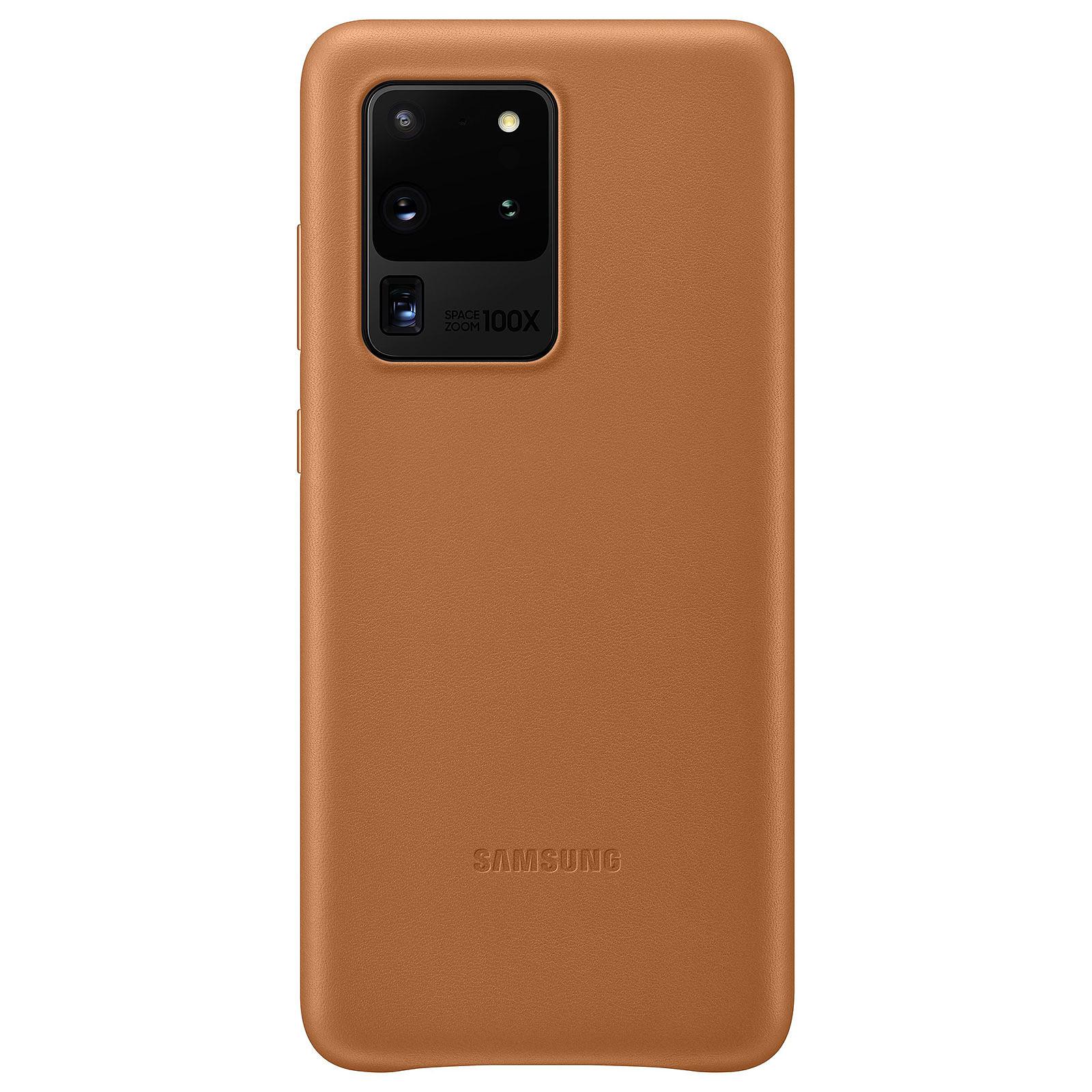 Samsung Coque Cuir Marron Samsung Galaxy S20 Ultra