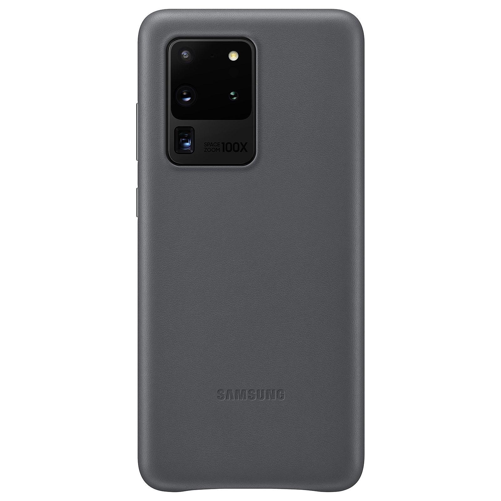 Samsung Coque Cuir Gris Samsung Galaxy S20 Ultra